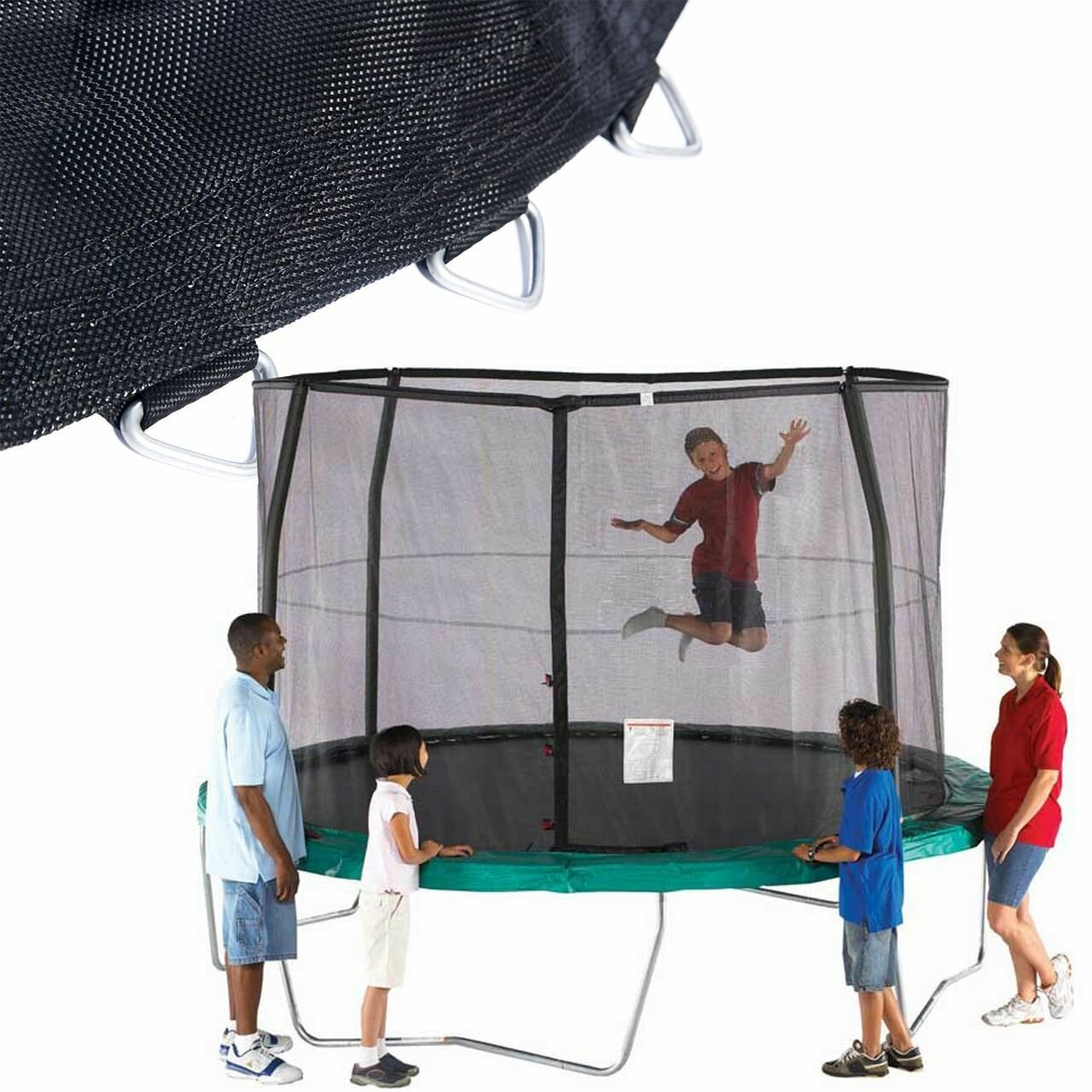 Orbounder 14 Trampoline And Enclosure Combo: SKYBOUND 14' Orbounder Net And Mat Combo