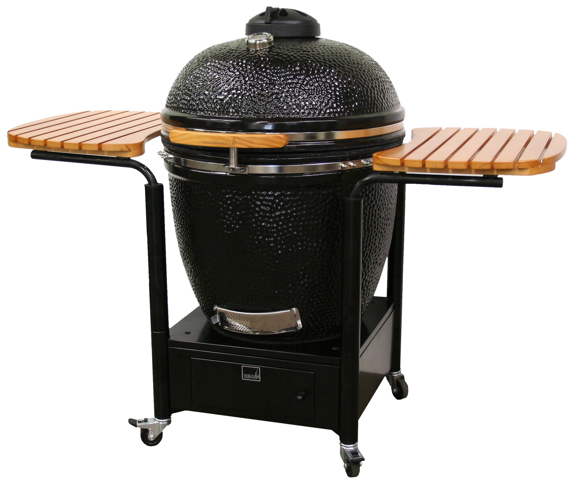 vision grills xl series kamado charcoal grill with smoker. Black Bedroom Furniture Sets. Home Design Ideas