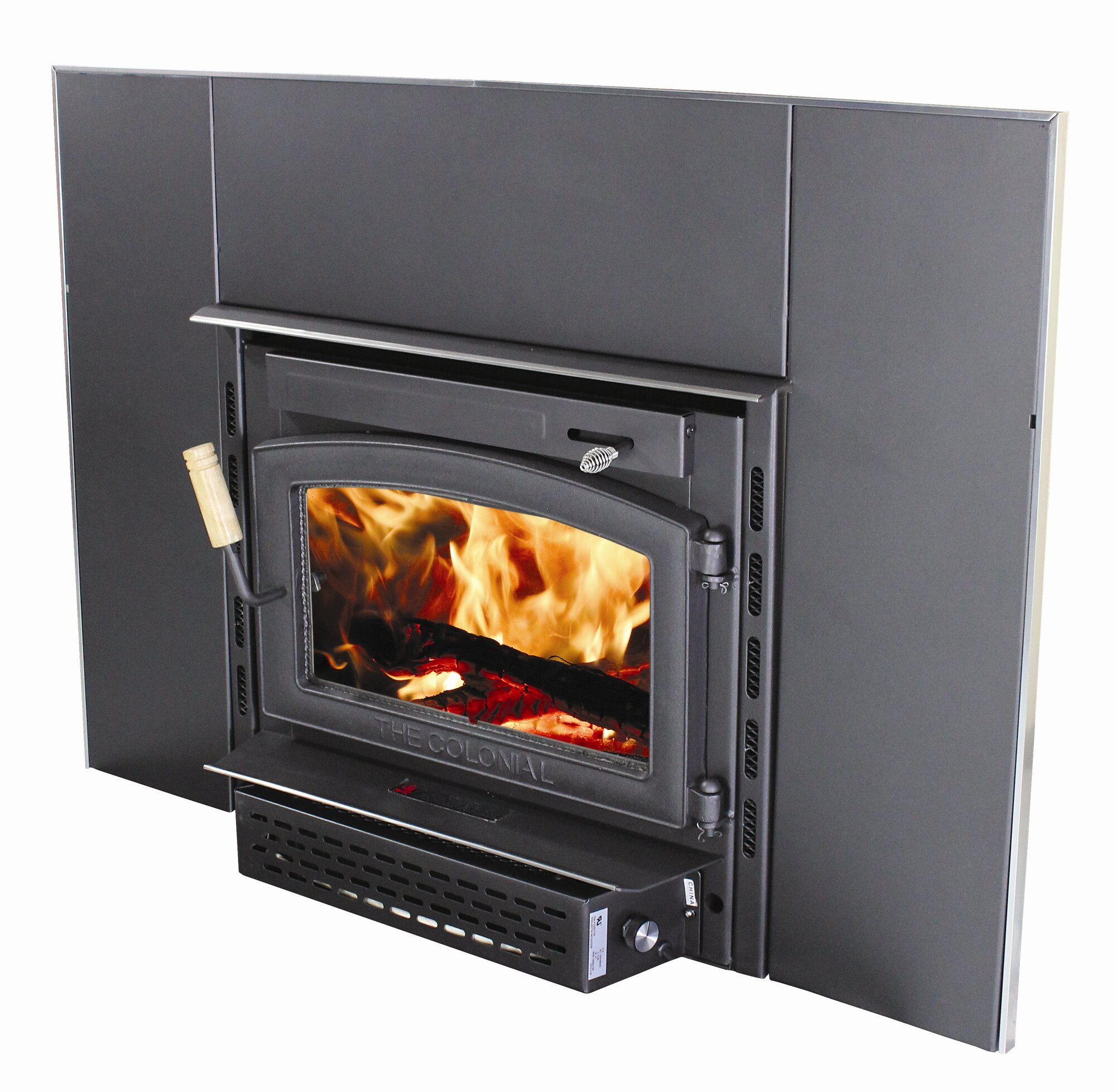 Vogelzang Colonial Wall Mount Wood Burning Fireplace