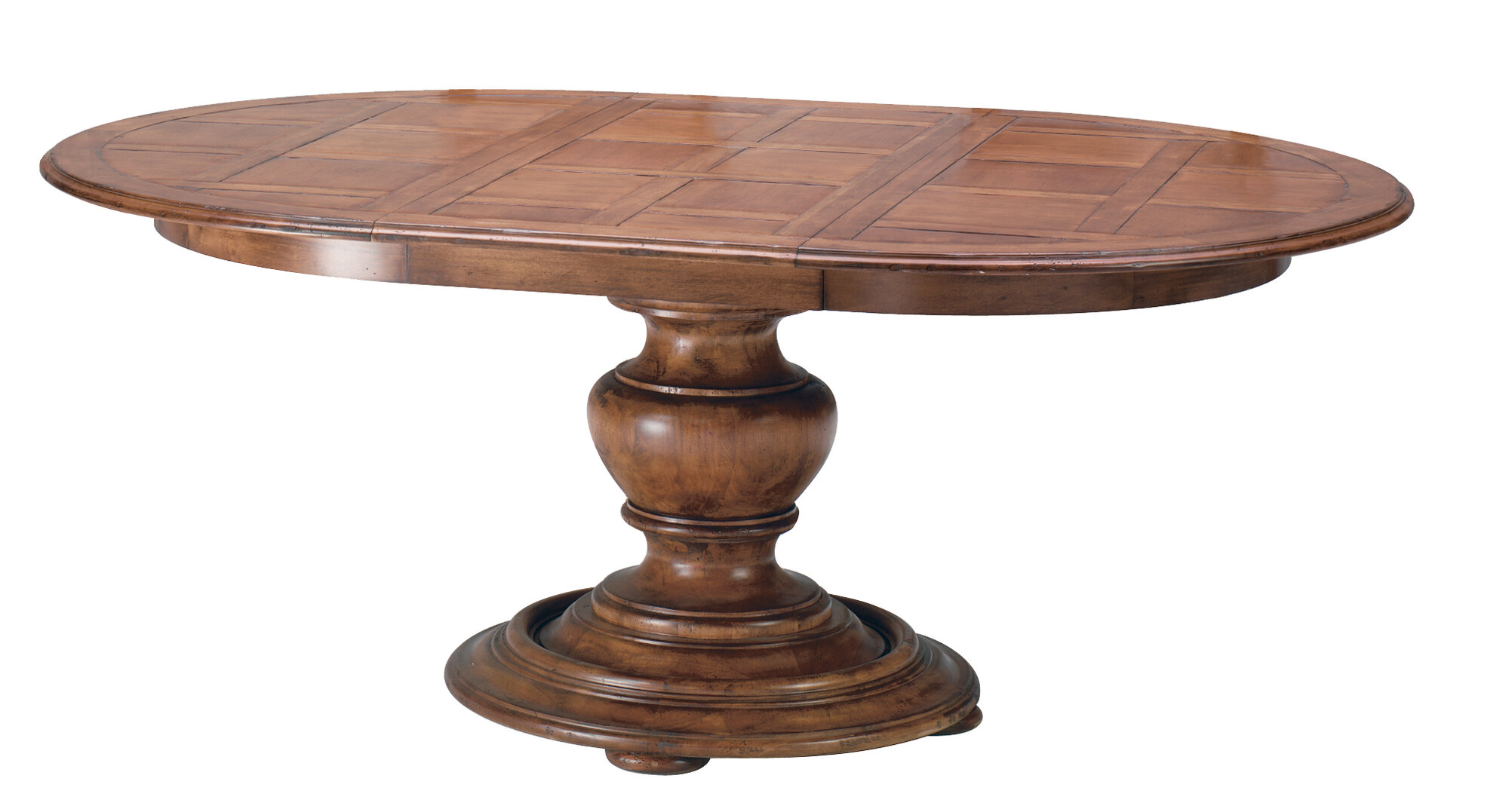 Round widdicomb dining table with two leaves at 1stdibs 48 for Circle dining room table with leaf