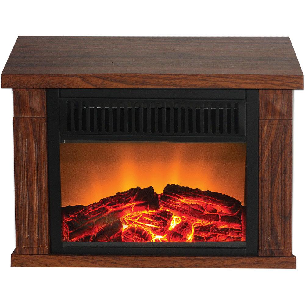 Warm House Zurich Tabletop Electric Fireplace Finish: Medium Oak