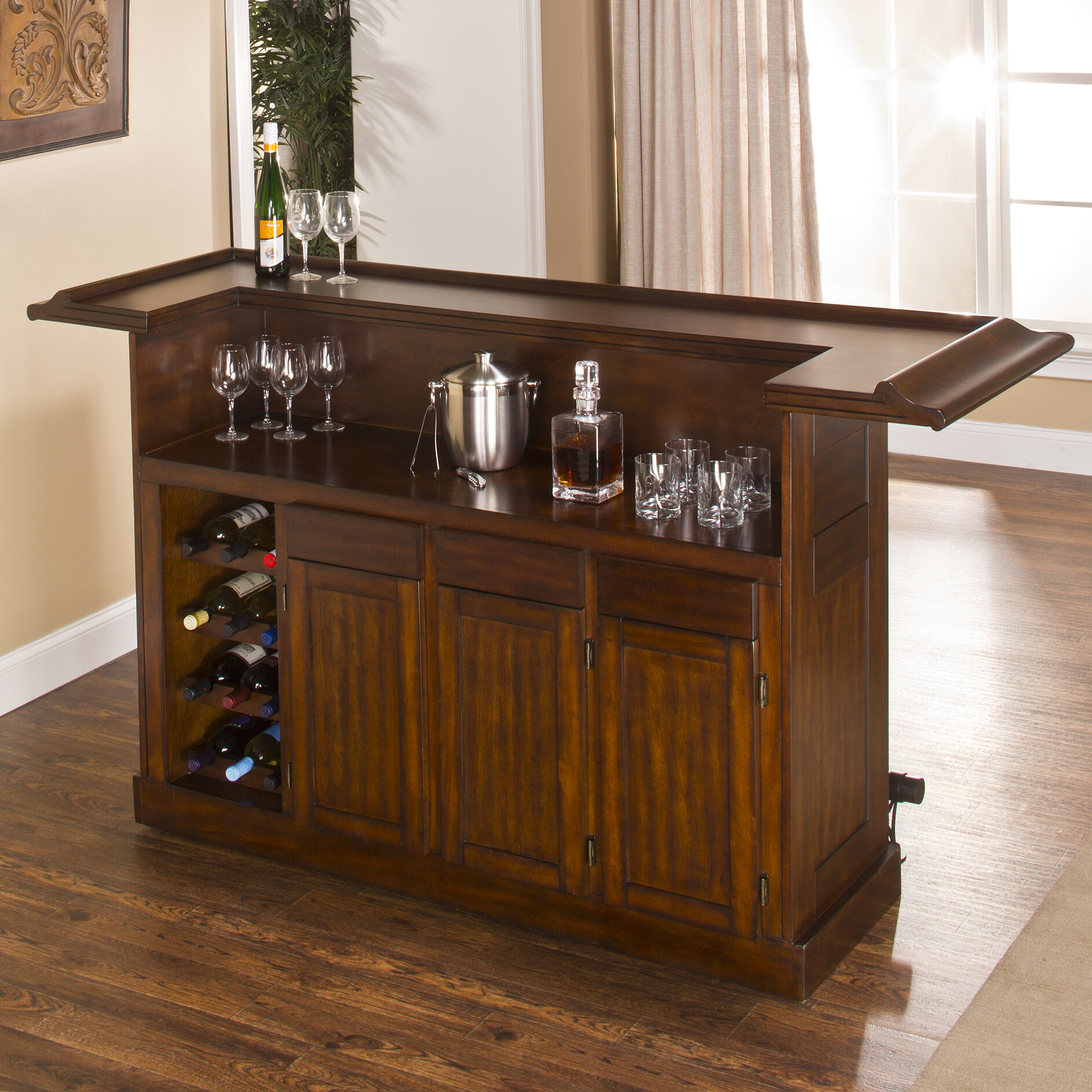 Hillsdale furniture classic home bar ebay for Bar at home furniture