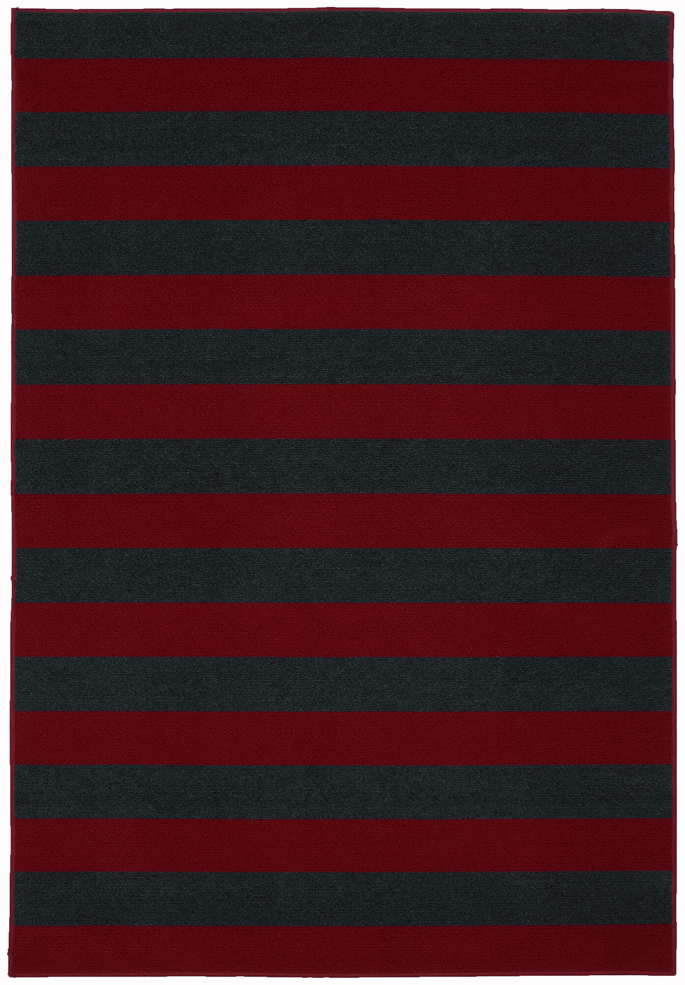 Garland rug rugby red burguandy navy area rug ebay for Red and navy rug