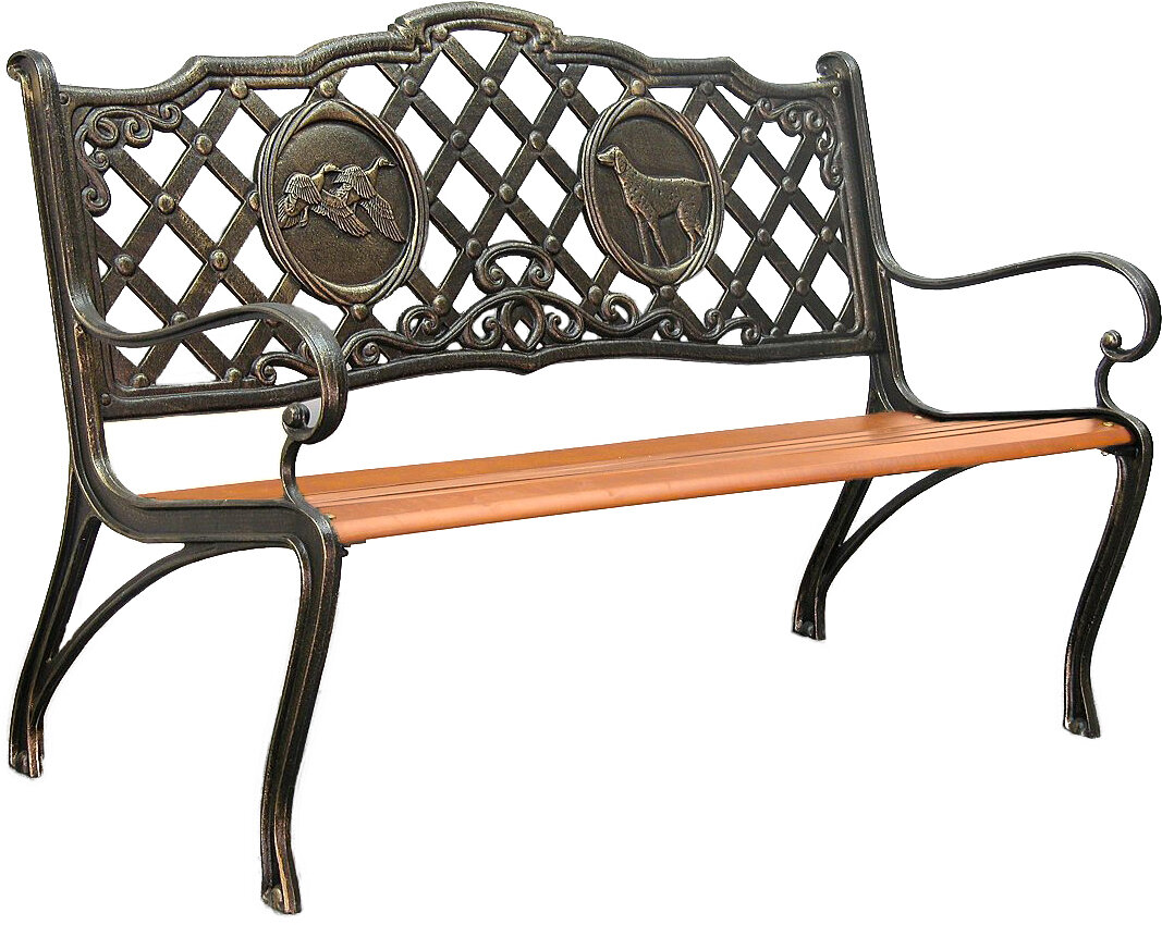 Innova Hearth And Home Hunting Cast Iron Park Bench Ebay