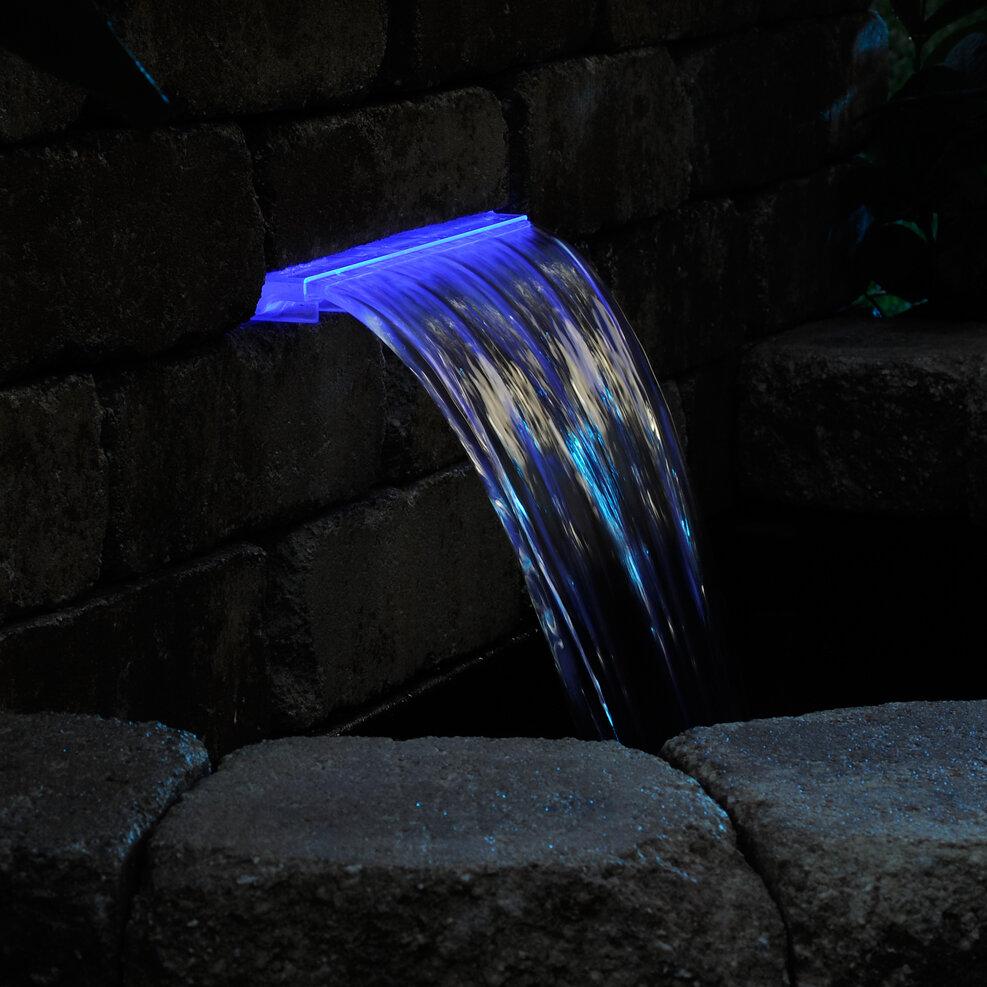 Pond Boss Lighted Waterfall LED Spillway