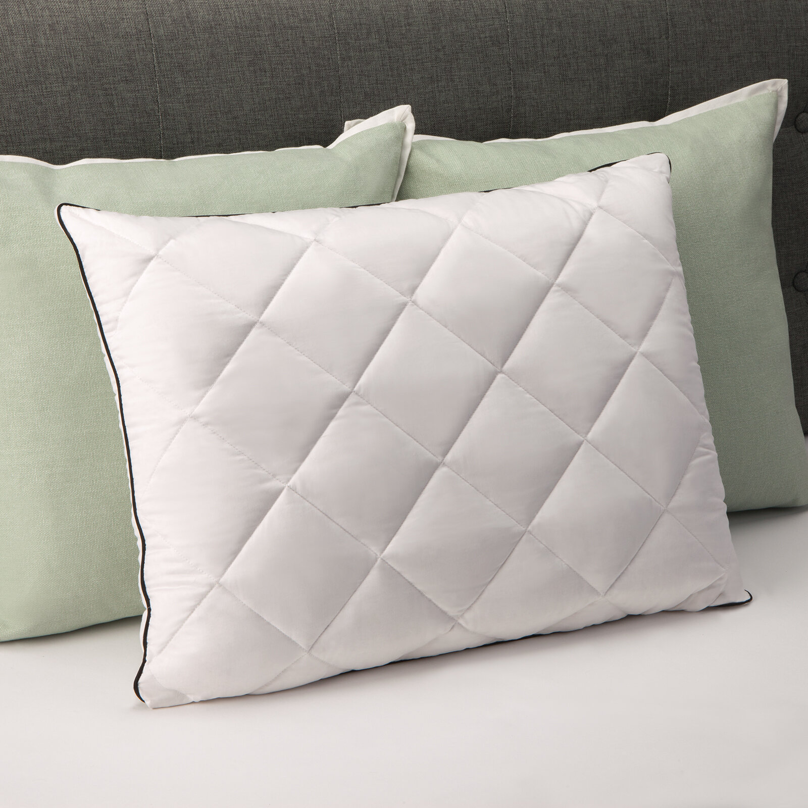 Comfort Revolution Plush Quilted Down Standard Pillow