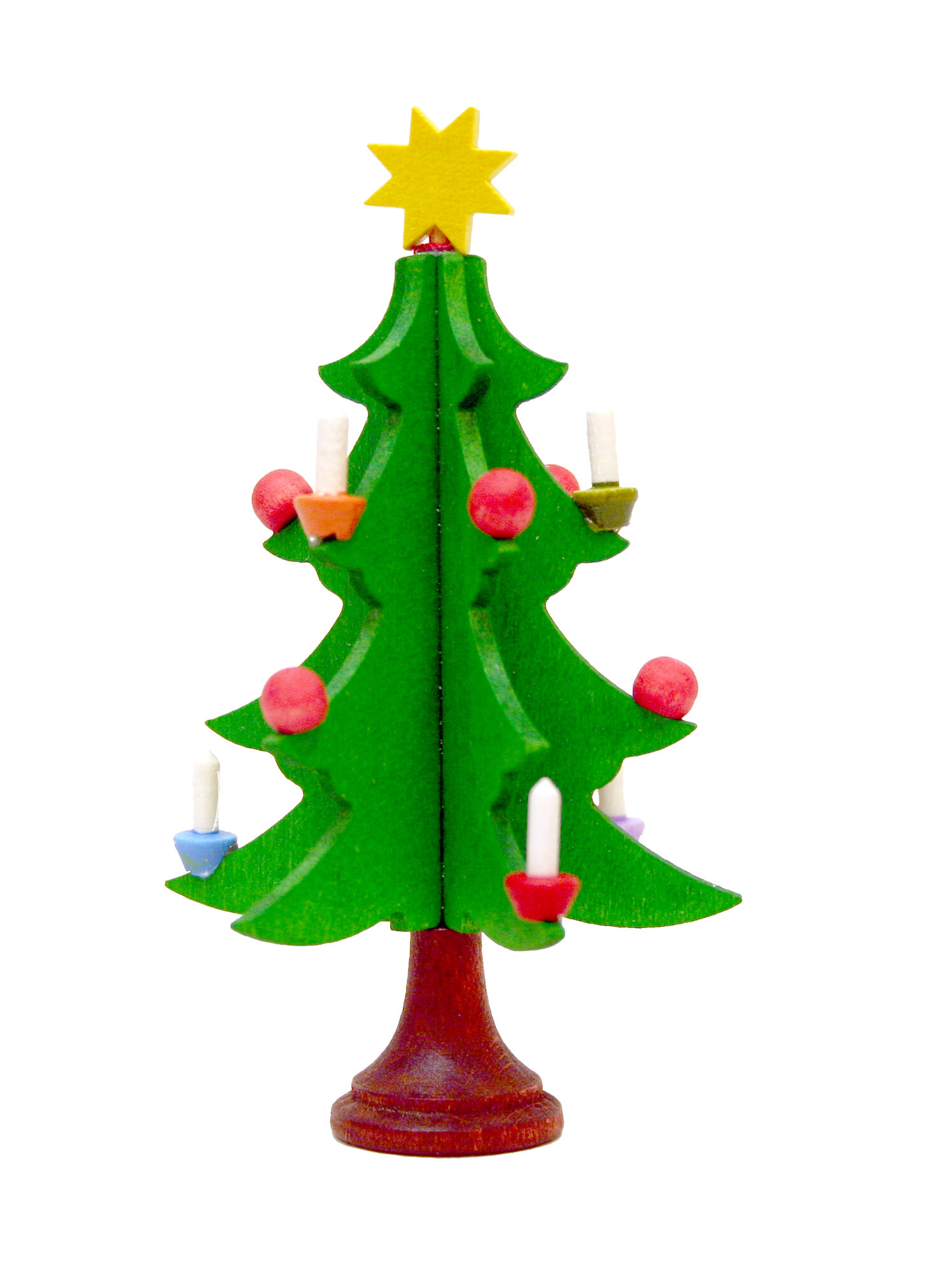 Christian ulbricht christmas tree with candles ornaments for Christmas candles and ornaments