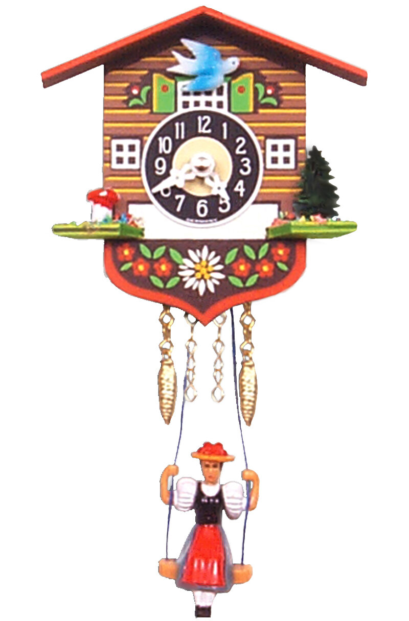 Black Forest Battery Operated Chalet Cuckoo Clock Ebay