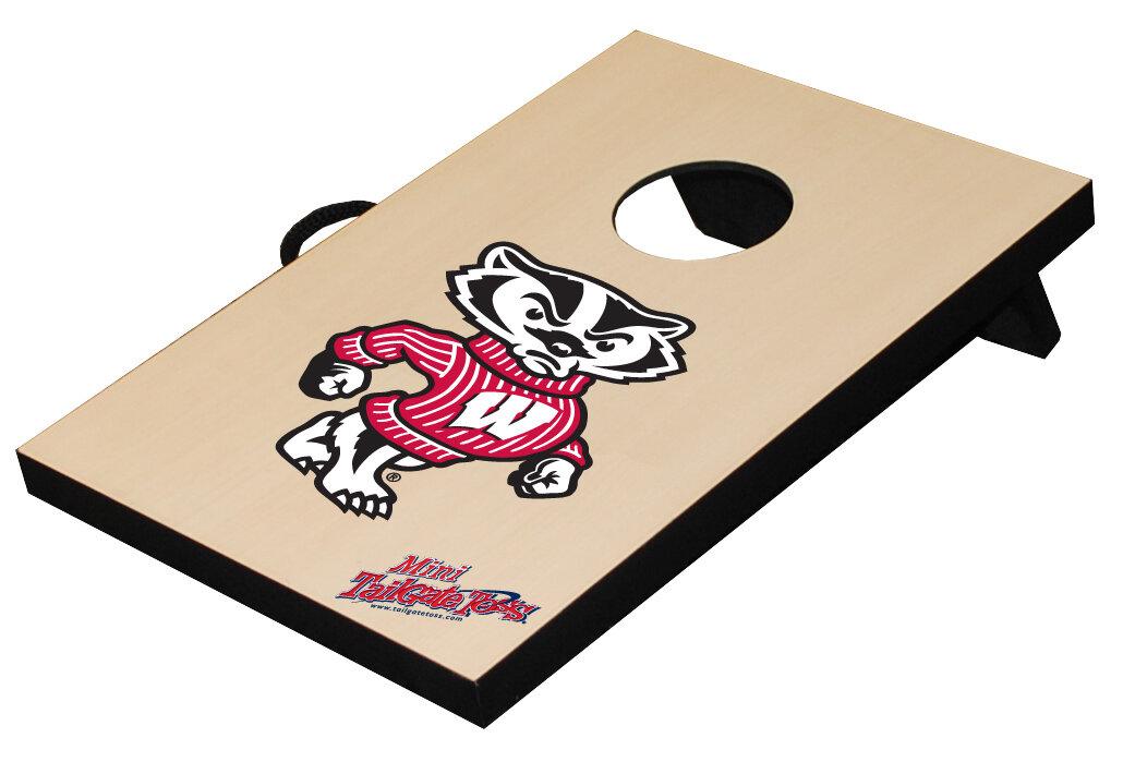 Tailgate Toss Ncaa Table Top Bean Bag Toss Game Wisconsin