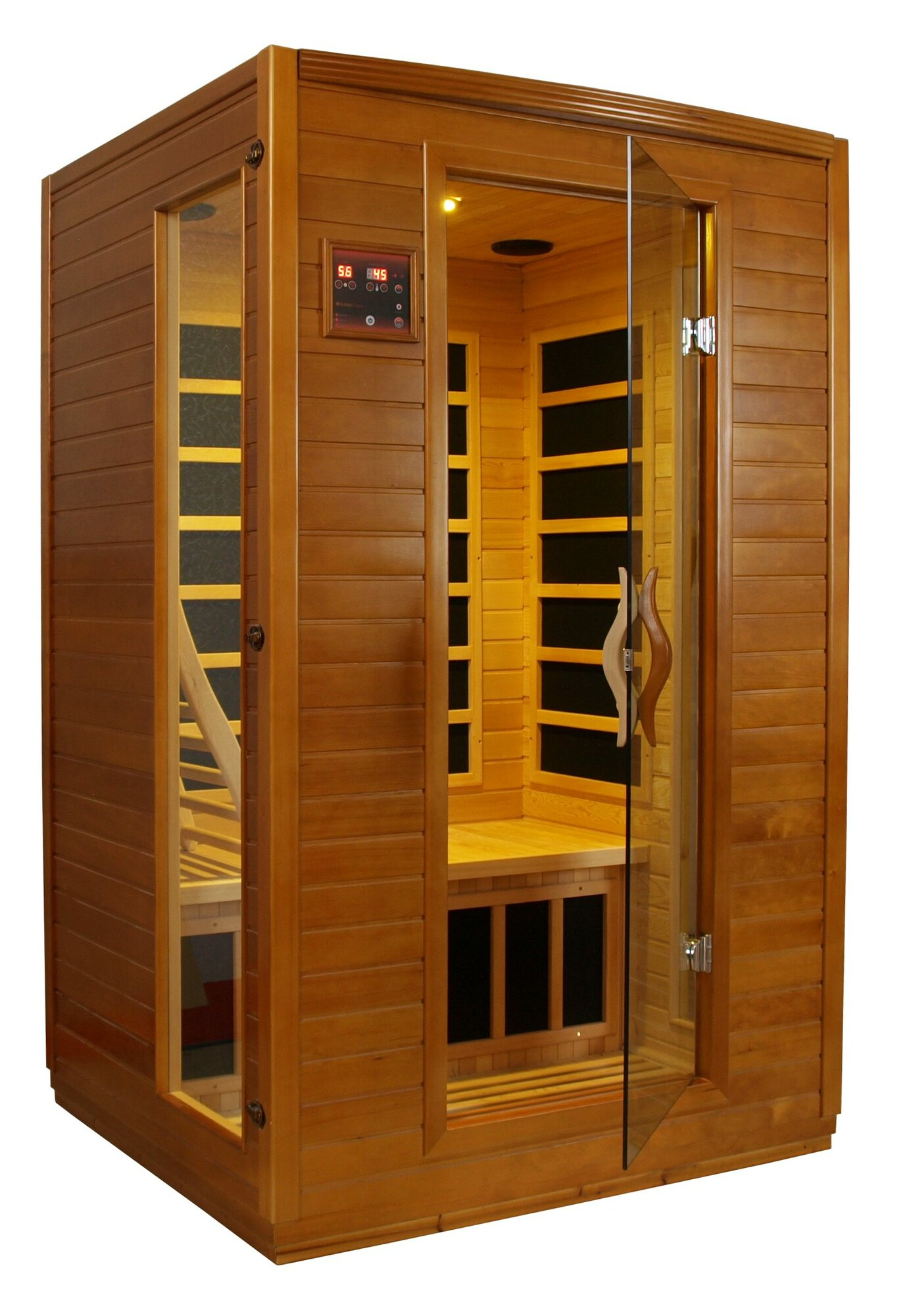 Infrared Sauna With Salt Wall In Nh Hotel Zandvoort The: Dynamic Infrared Luxury 2 Person IR Carbon FAR Infrared