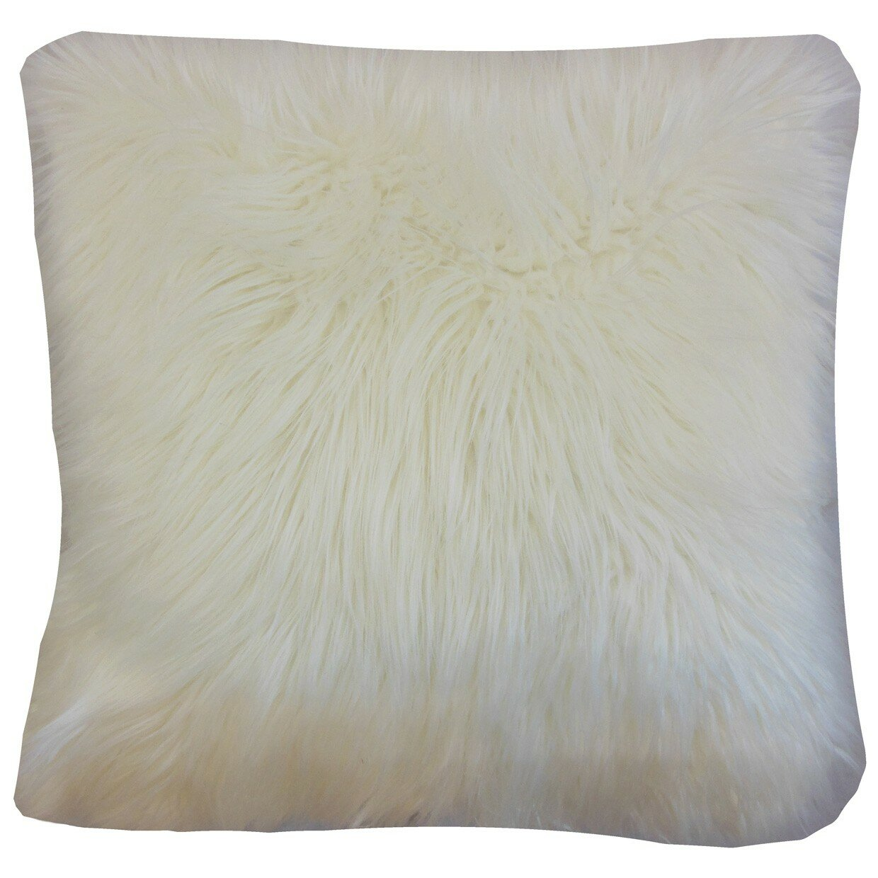 The Pillow Collection Valeska Faux Fur Throw Pillow Cover eBay