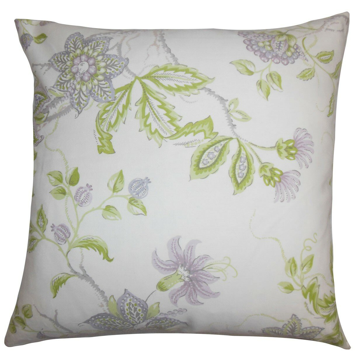 Throw Pillow Collections : The Pillow Collection Ululani Floral Throw Pillow Cover eBay