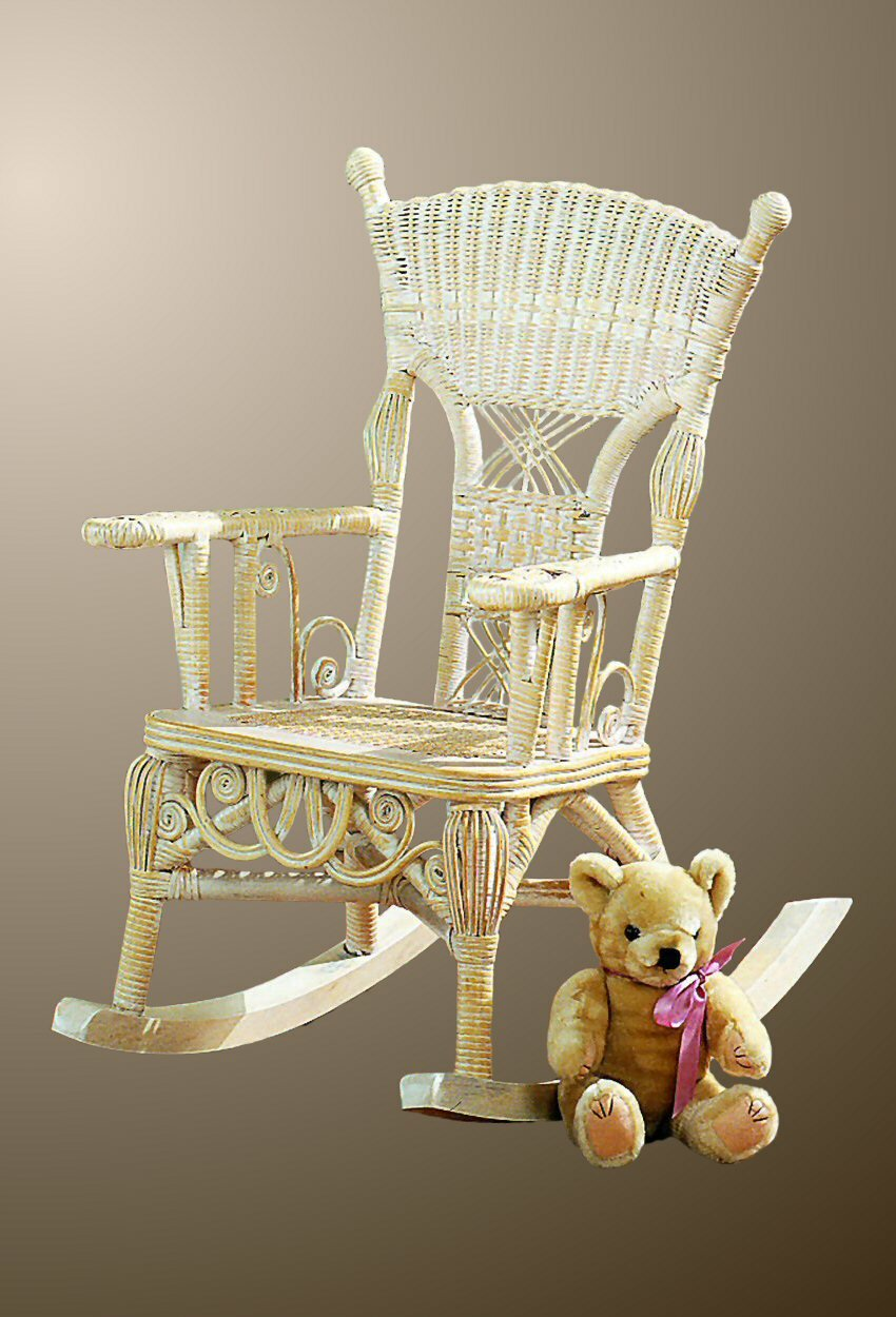 Yesteryear Wicker Victorian Child S Millie Rocking Chair