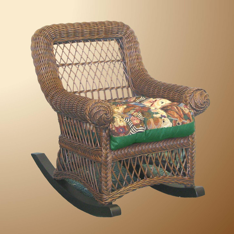 Yesteryear Wicker Child S Cotton Rocking Chair Ebay