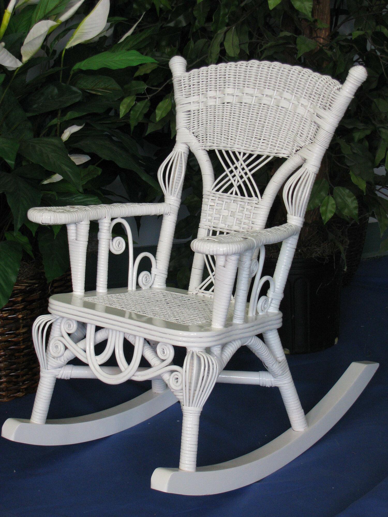 Yesteryear Wicker Victorian Child S Millie Rocking Chair