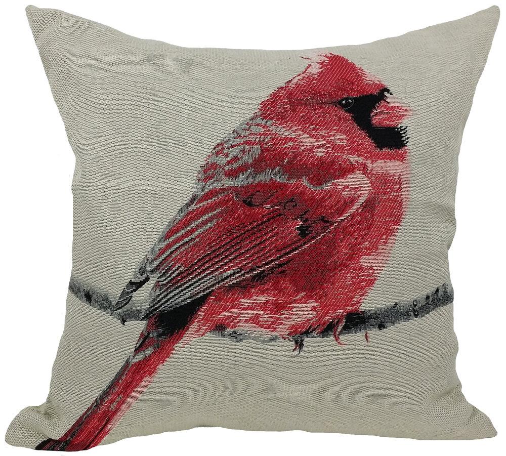 Cardinal Bird Throw Pillows : Xia Home Fashions Cardinal Bird Emboridery Throw Pillow