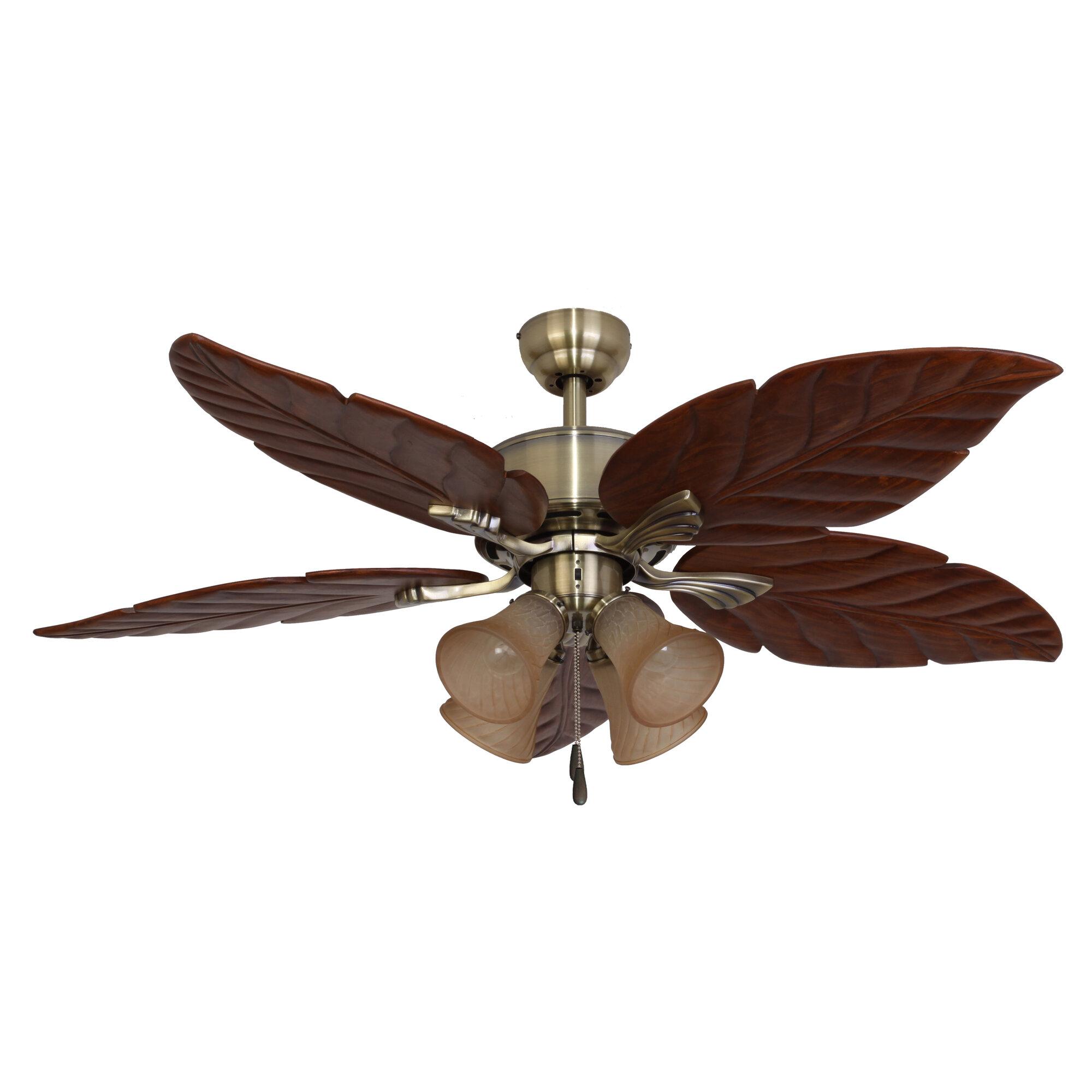 """Calcutta 52"""" St. Marks 4-Light 5 Blade Ceiling Fan"""
