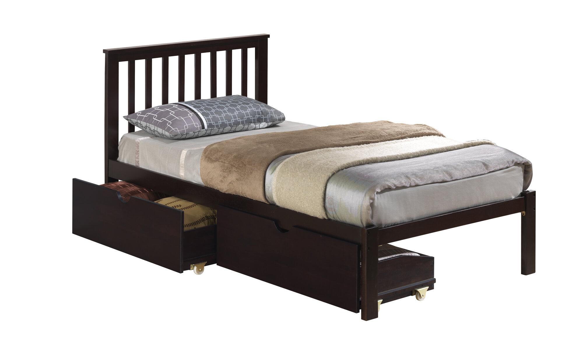 donco kids mission slat bed with dual underbed drawers ebay. Black Bedroom Furniture Sets. Home Design Ideas