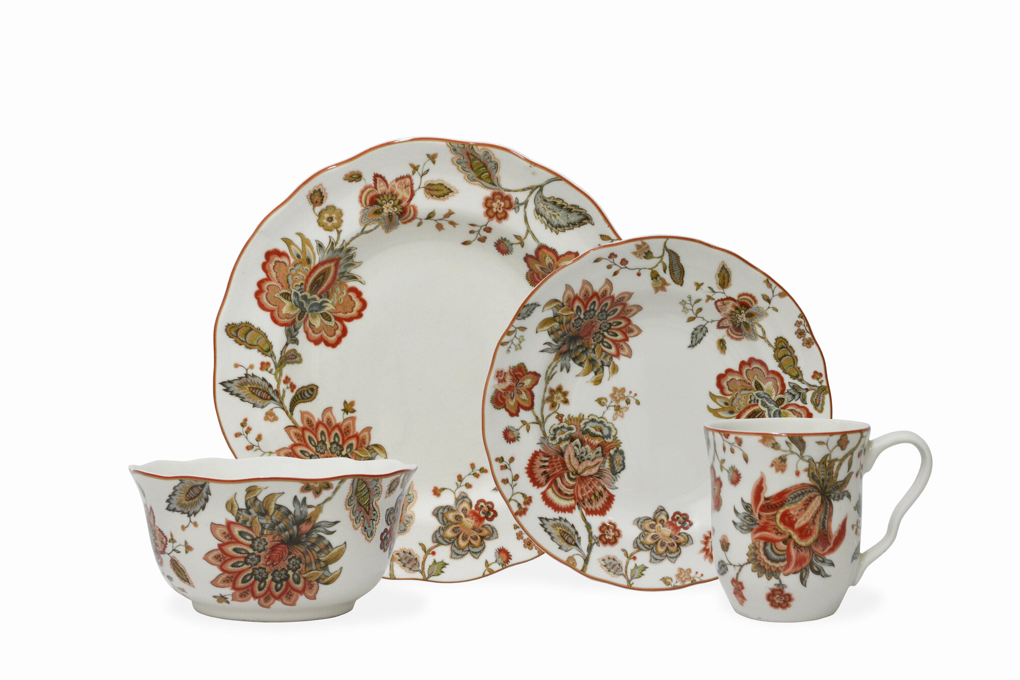 222 fifth winter floral red 16 piece dinnerware set ebay for 222 fifth dinnerware