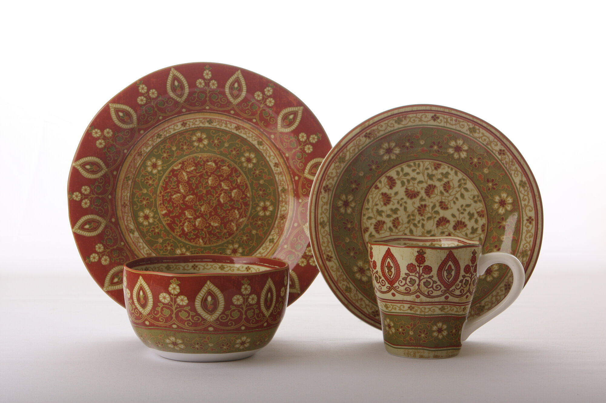 222 fifth kashmir 16 piece set dinnerware set ebay for 222 fifth dinnerware