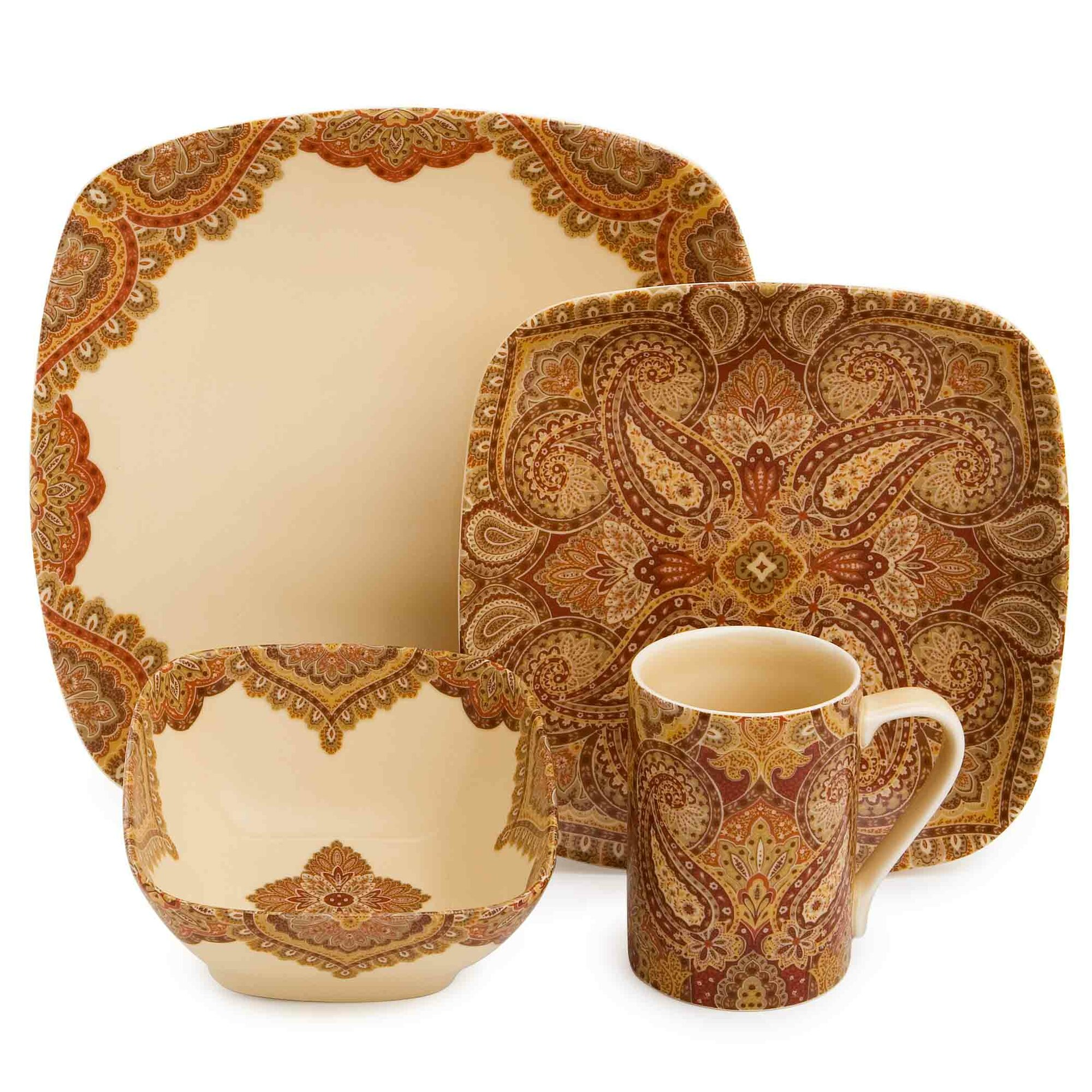 222 fifth spice road 16 piece dinnerware set ebay