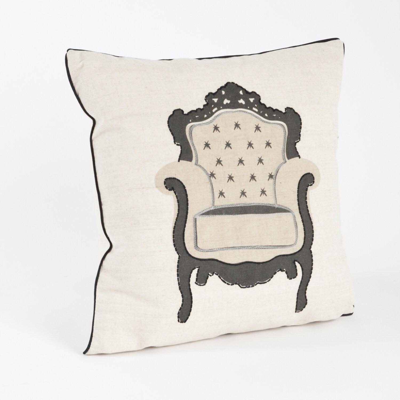 saro chaise de salon armchair design throw pillow ebay. Black Bedroom Furniture Sets. Home Design Ideas