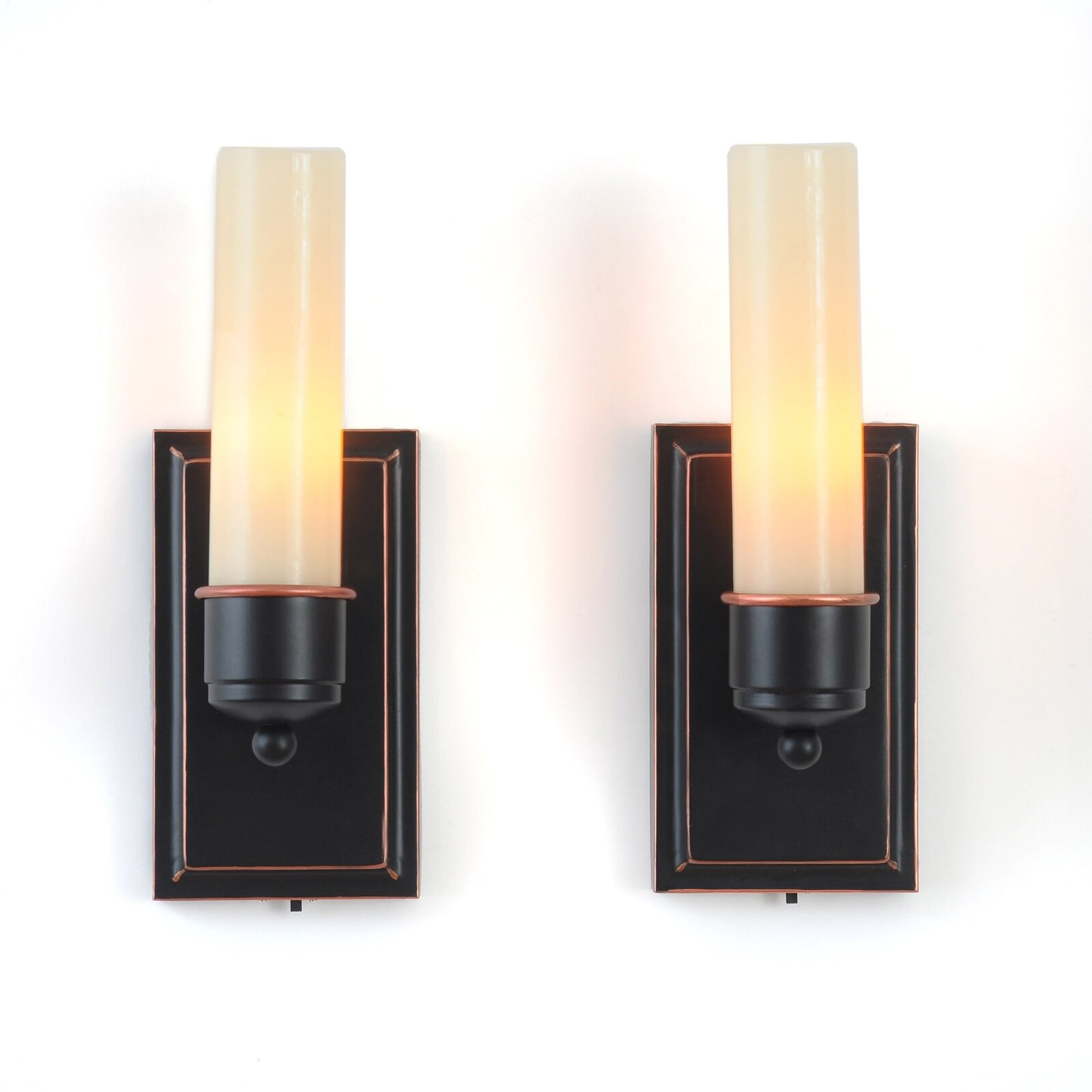 Wall Sconces With Flameless Candles : Lion Sports CandleTEK Wall Sconces Flameless Candles Set of 2 eBay