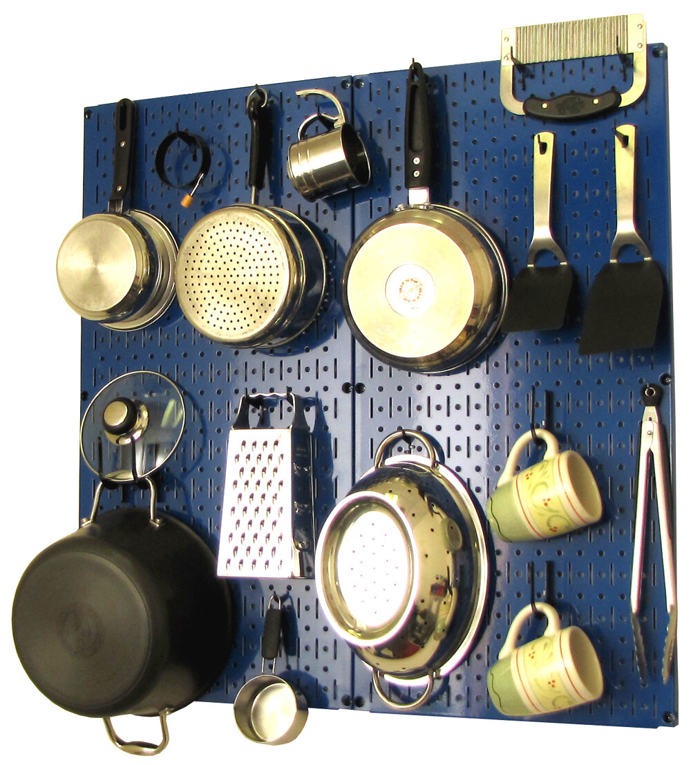 wall control kitchen organizer pots and pans pegboard pack ebay. Black Bedroom Furniture Sets. Home Design Ideas