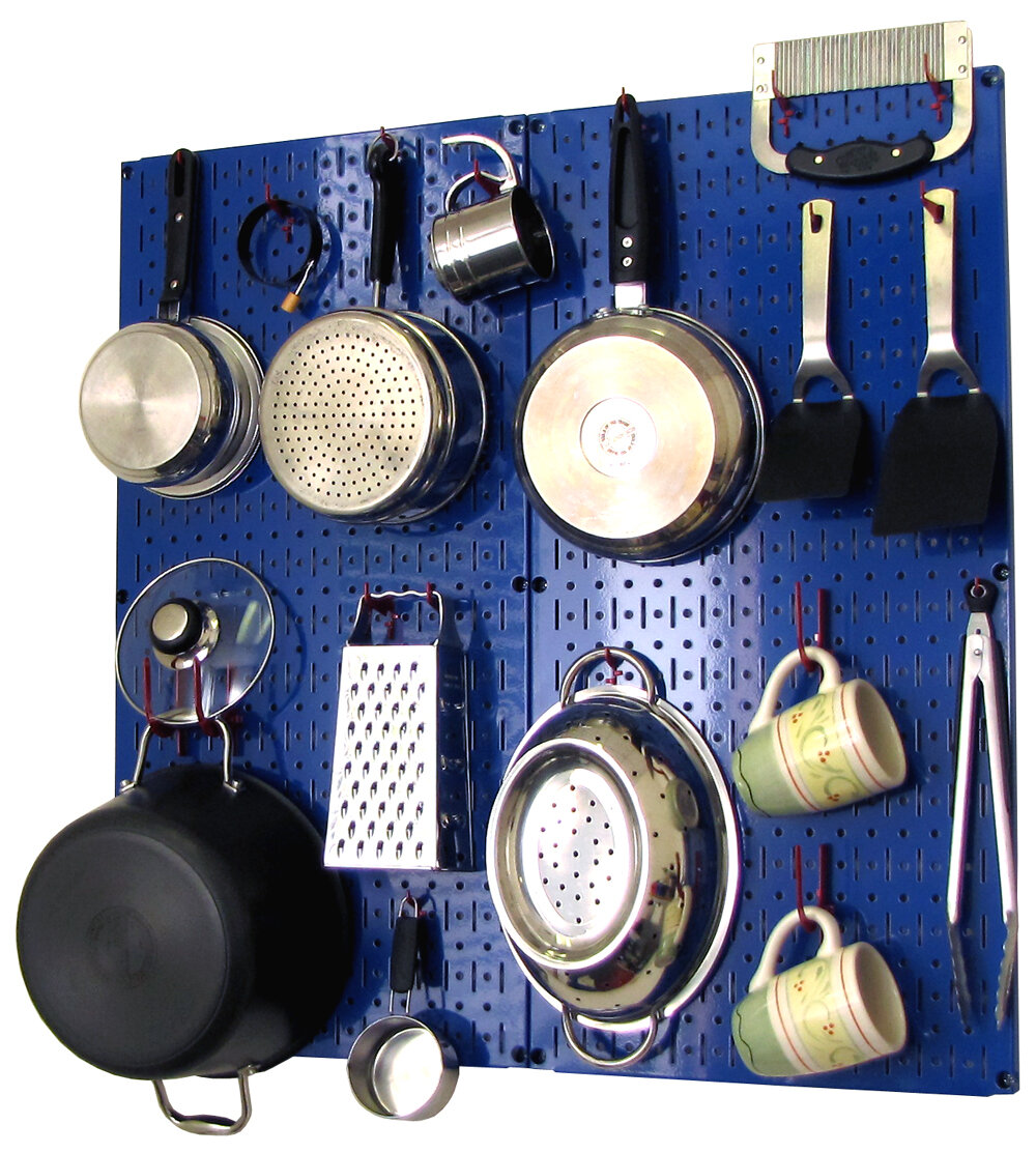 Pegboard Kitchen Wall Control Kitchen Organizer Pots And Pans Pegboard Pack Ebay