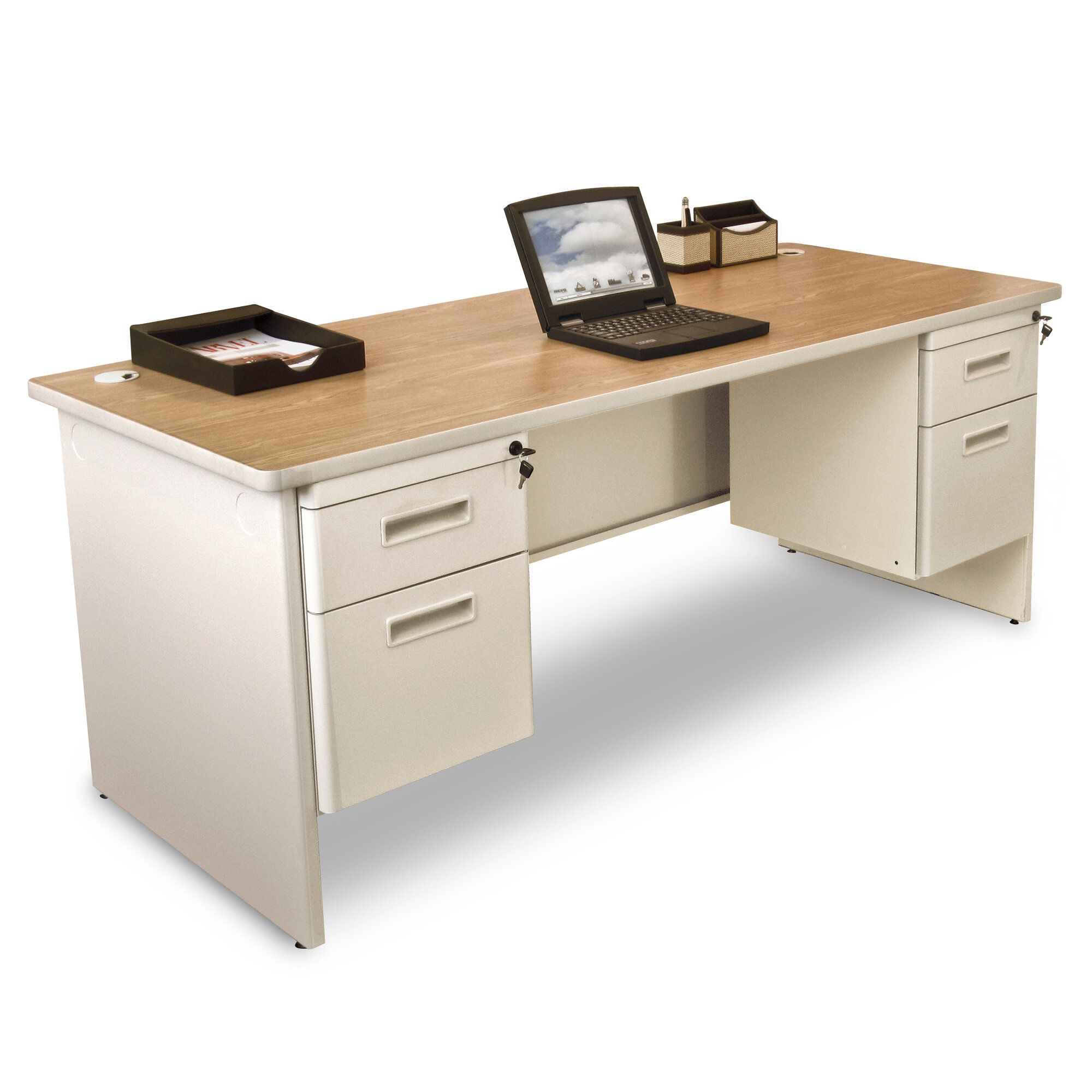 Marvel Office Furniture Pronto Double Pedestal And Lock