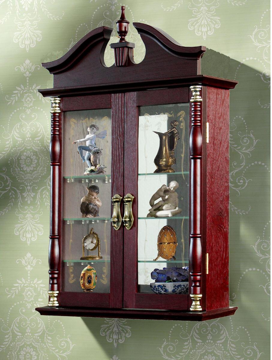jenlea wall curio cabinet. Black Bedroom Furniture Sets. Home Design Ideas