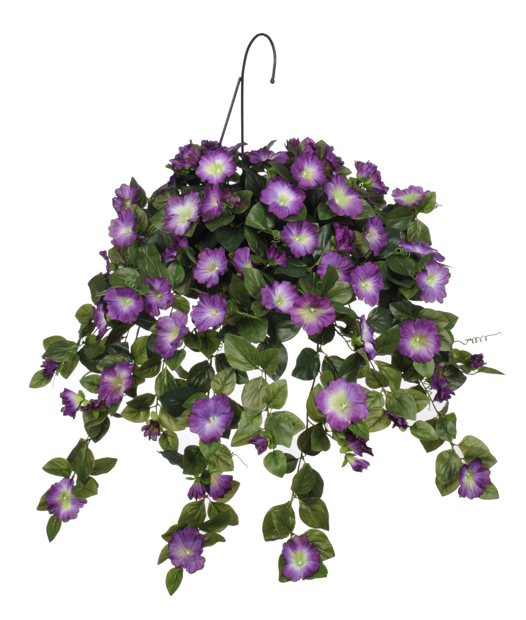 house of silk flowers inc artificial petunia hanging plant in basket ebay. Black Bedroom Furniture Sets. Home Design Ideas