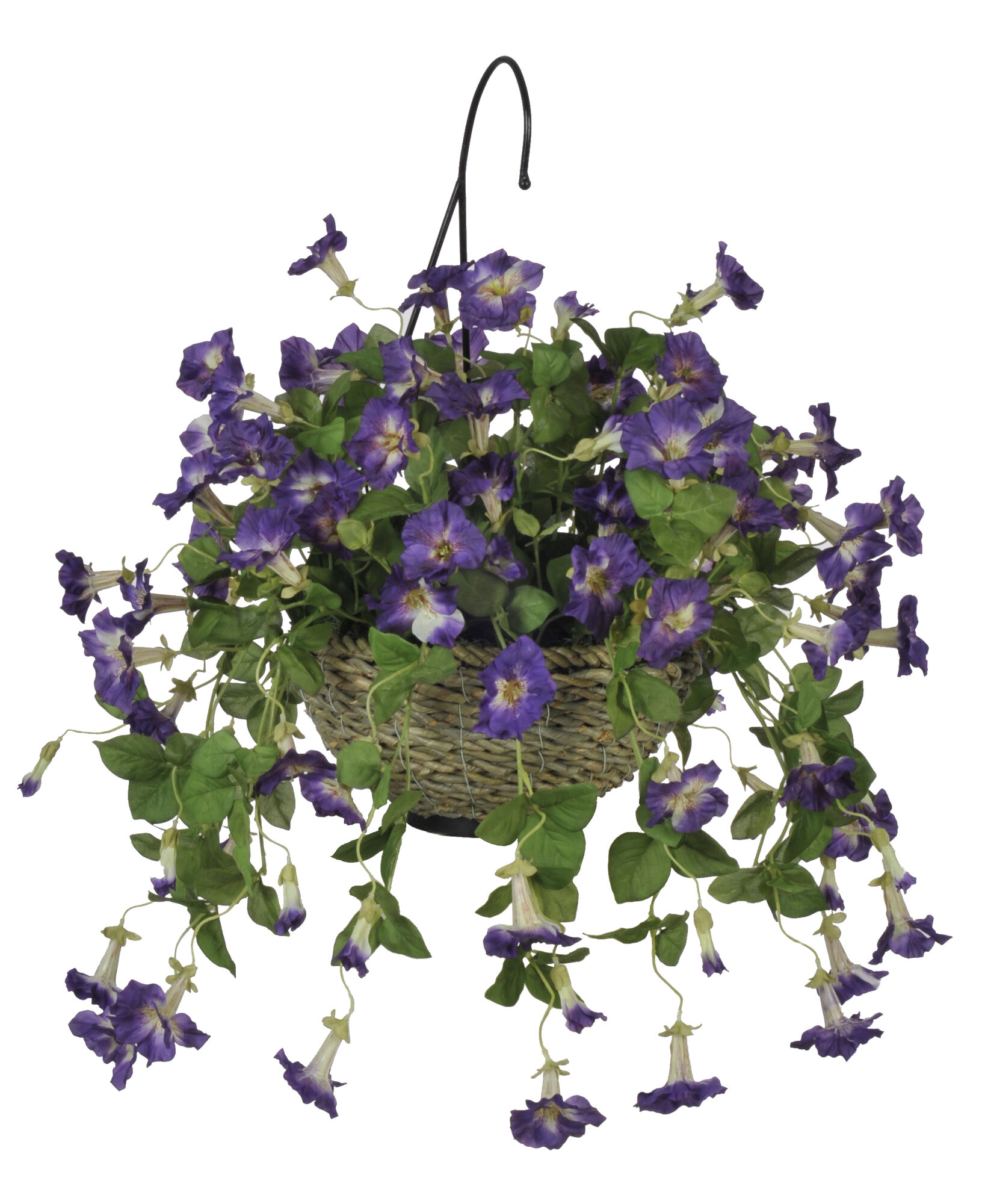 Who Has Hanging Flower Baskets On Sale : House of silk flowers inc artificial petunia hanging plant