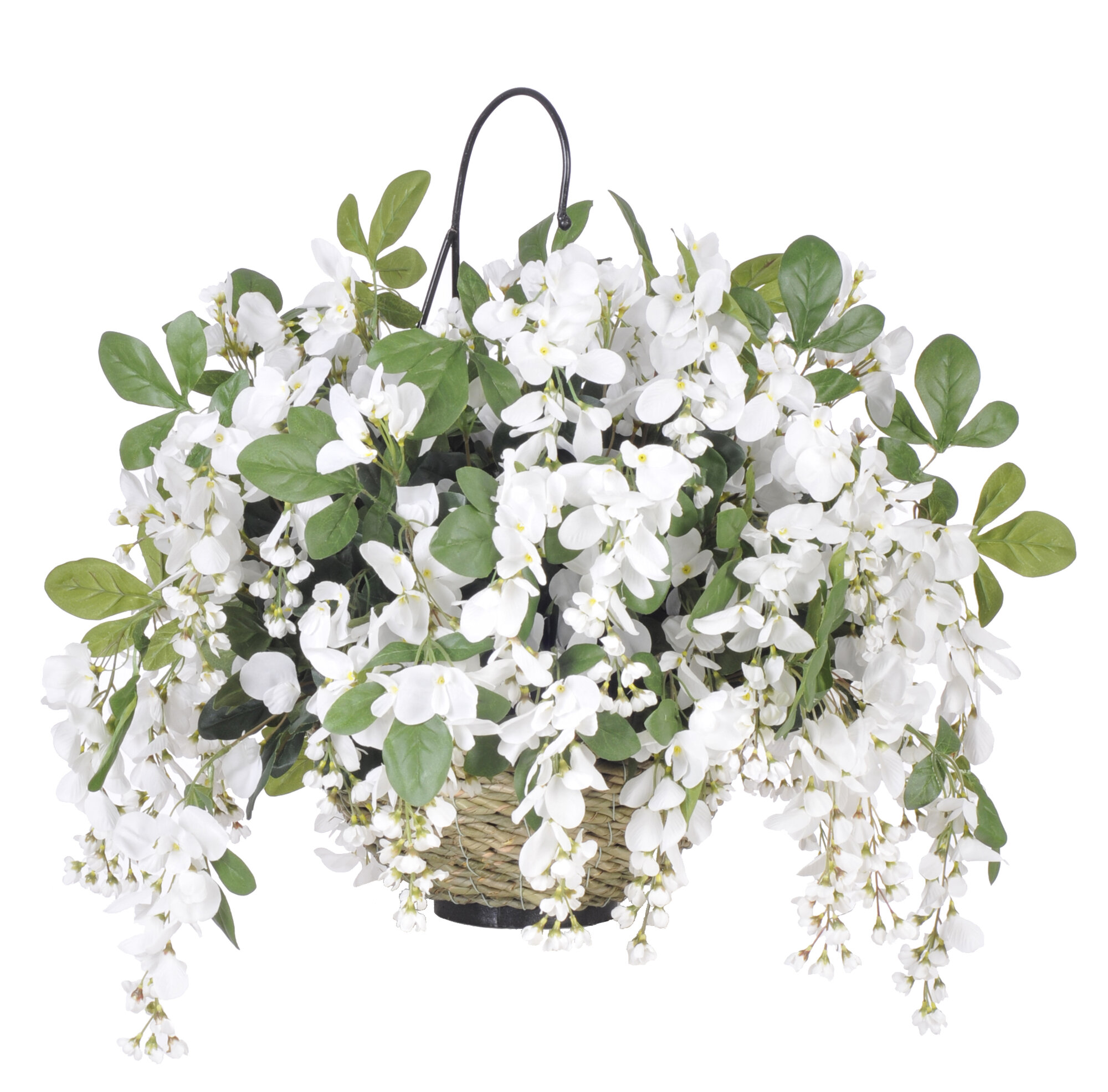 Who Has Hanging Flower Baskets On Sale : House of silk flowers inc artificial wisteria hanging