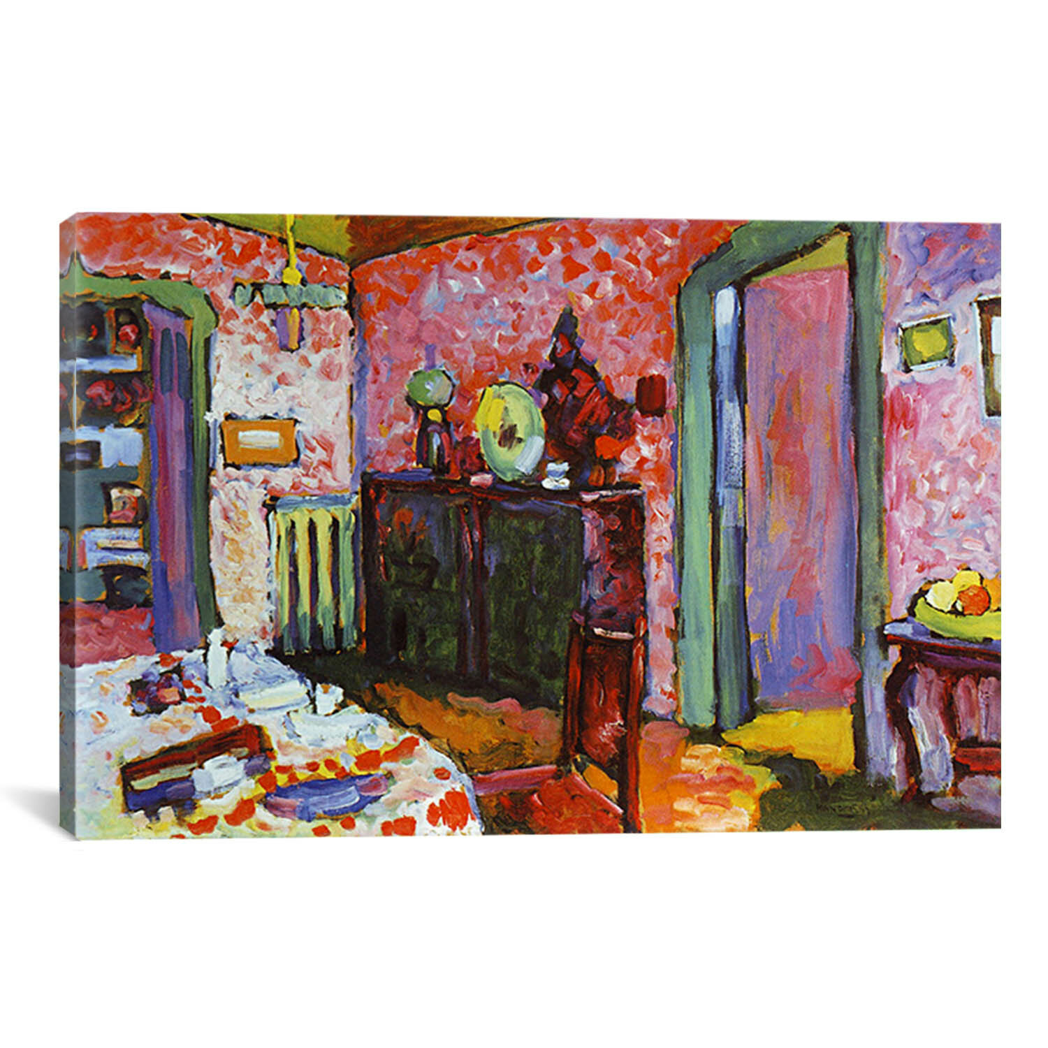39 interior my dining room 39 by wassily kandinsky painting for Canvas painting for dining room