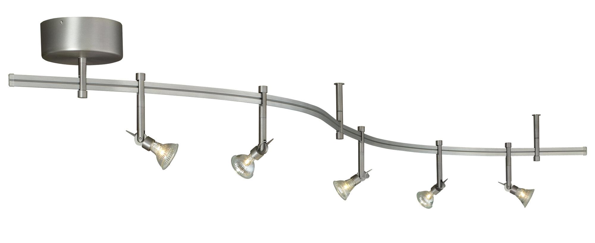Tech lighting tiella 5 light decorative flexible track for Flexible track lighting ikea