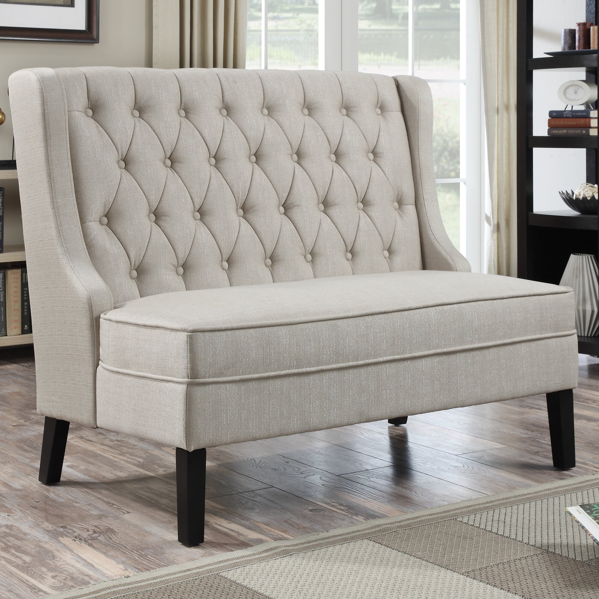 Banquette Table: PRI Upholstered Banquette In Oatmeal