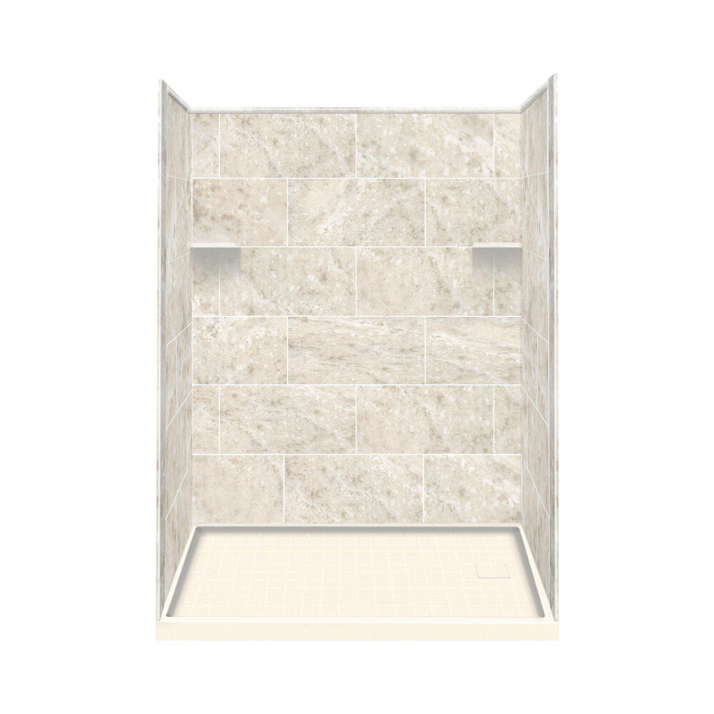 Solid Surface Wall Cladding : Samson solid surface three panel shower wall kit right