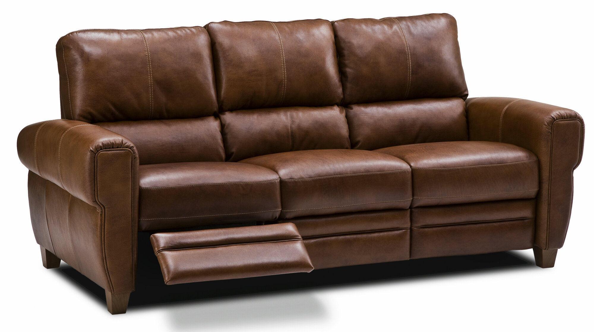 Recliner couches living room ideas for Leather reclining sofa