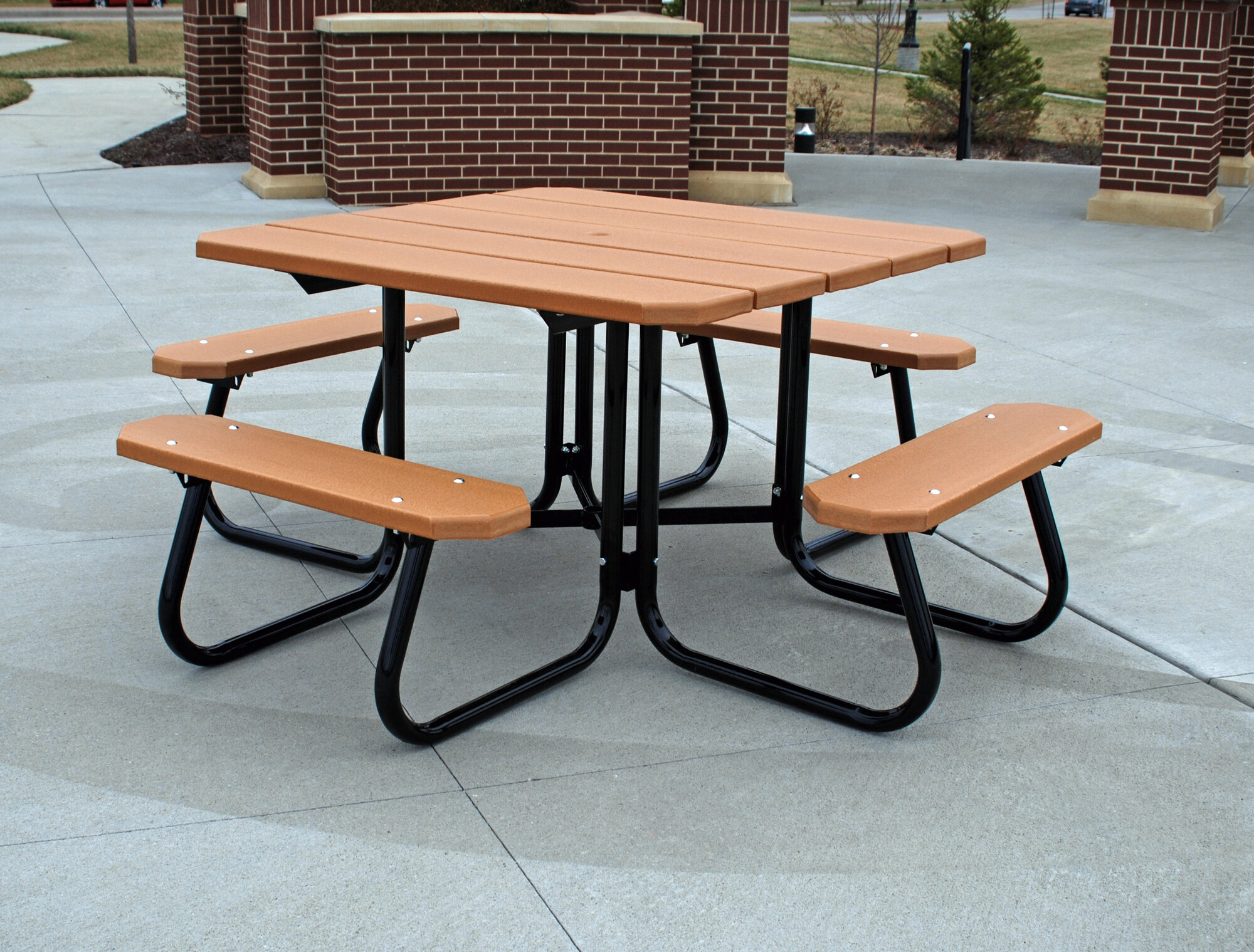 Plastic Picnic Table : Details about Frog Furnishings Recycled Plastic Square Picnic Table