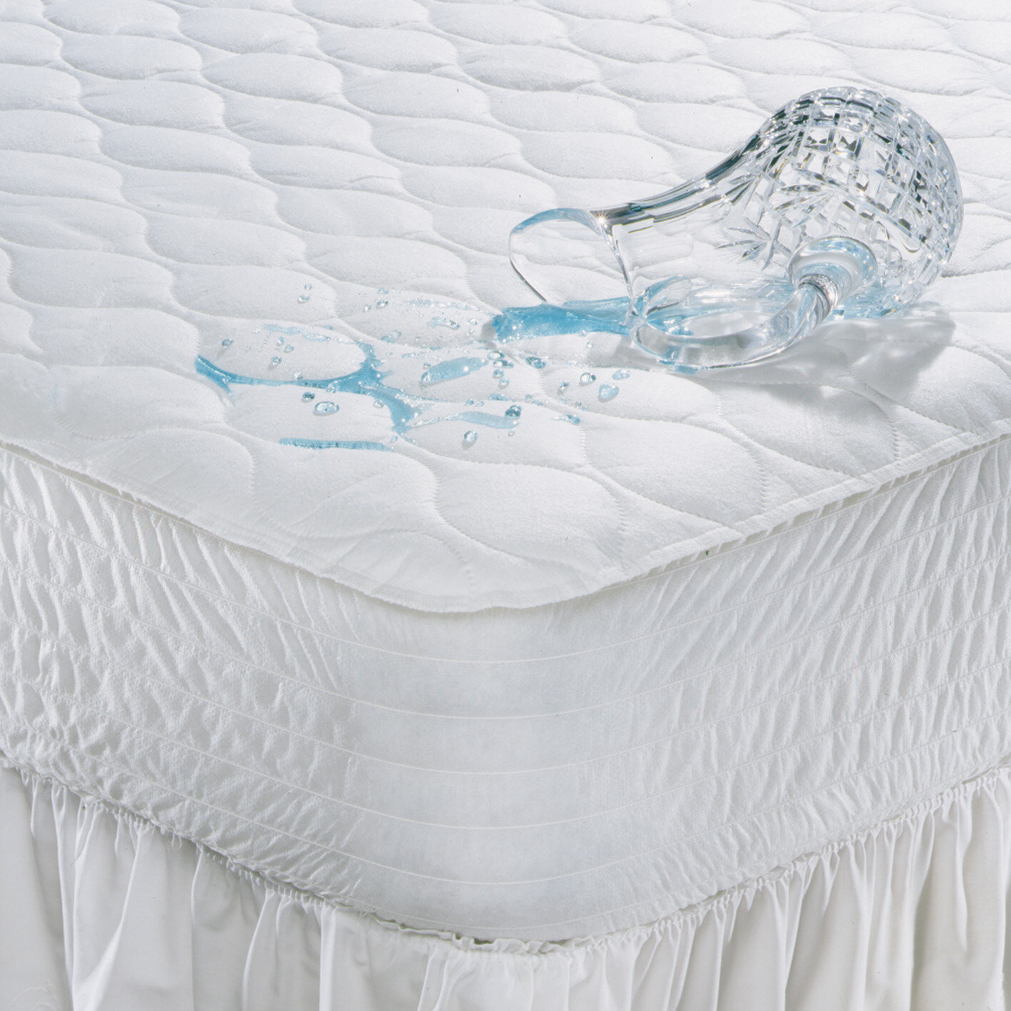 Beautyrest Polyester Waterproof Mattress Pad Size: Queen