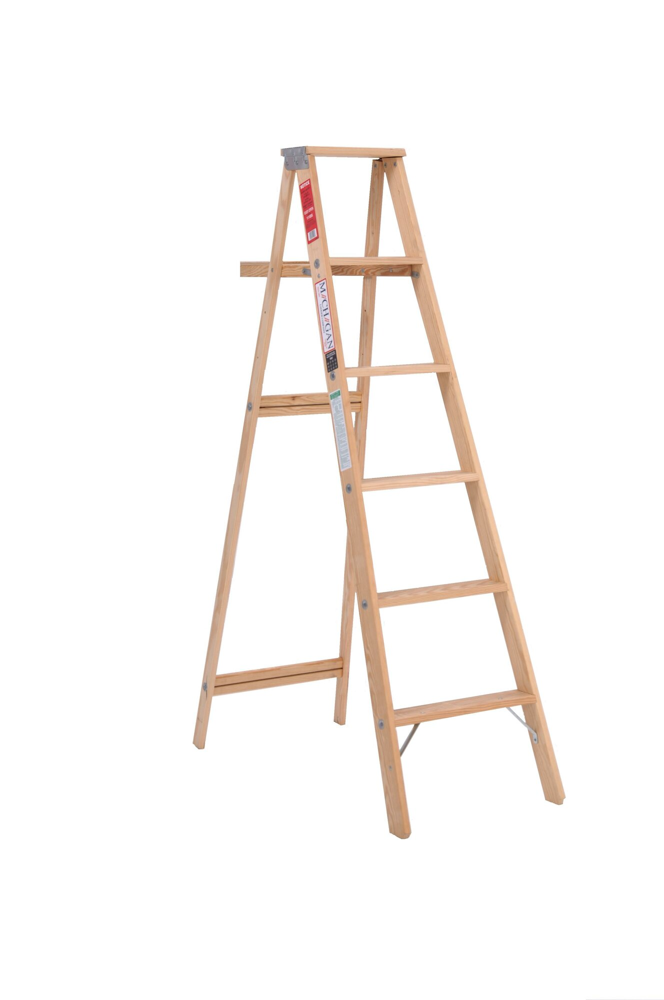 Michigan Ladder 5 Ft Wood Step Ladder With 200 Lb Load