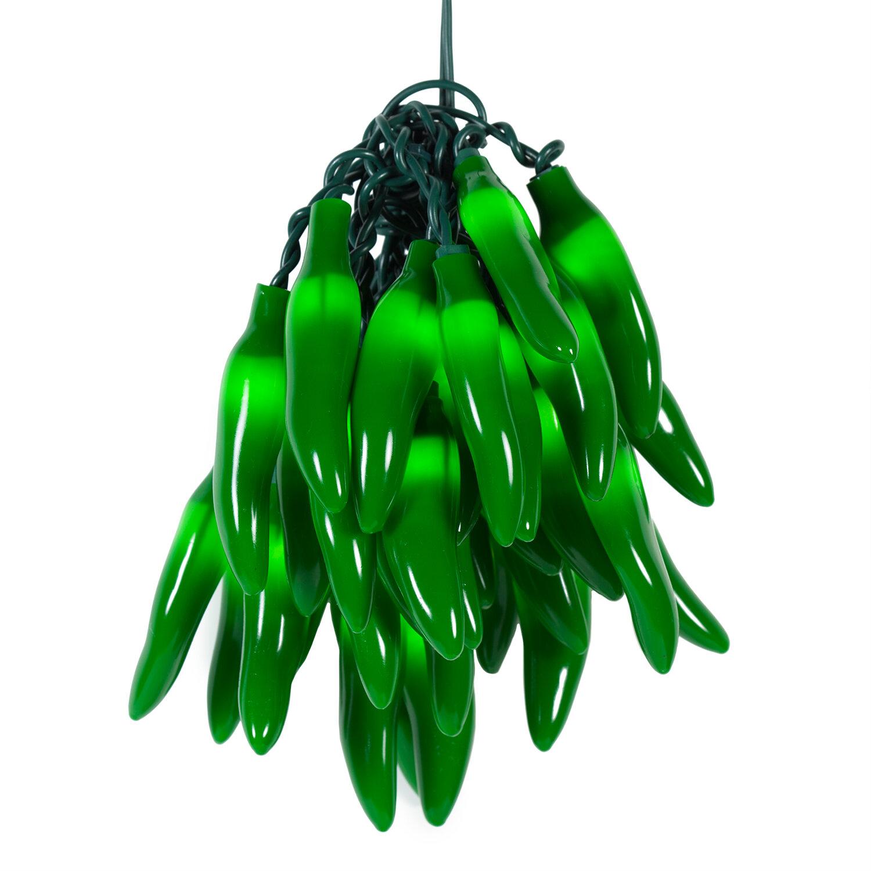about wintergreen lighting 35 light chili pepper cluster string lights. Black Bedroom Furniture Sets. Home Design Ideas