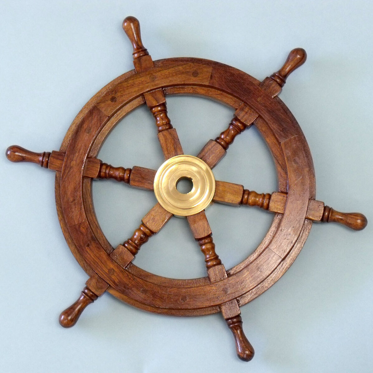 Nautical Wheel Decor: Handcrafted Model Ships Deluxe Class Ship Wheel Wall Décor