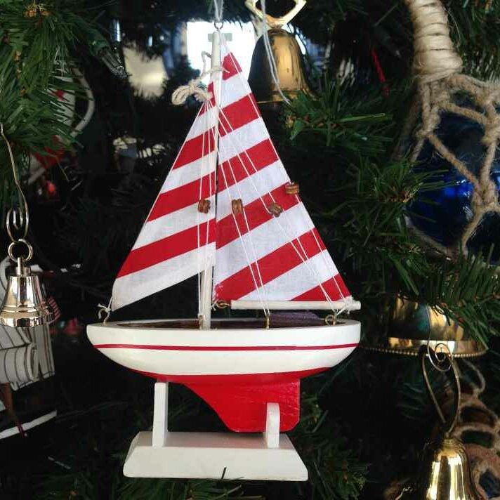 Handcrafted Nautical Decor Christmas Tree Ornament