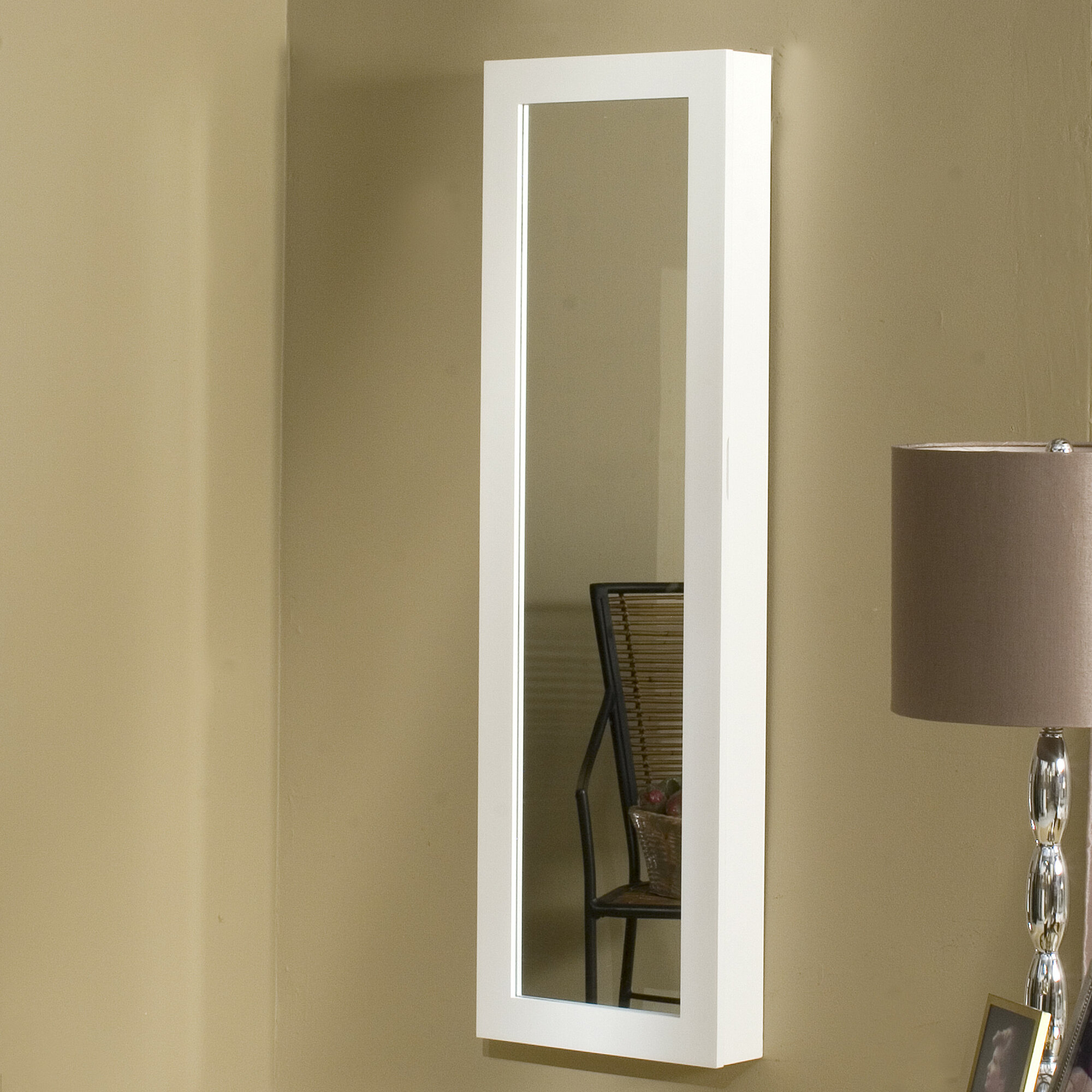 Dalton home collection over the door wall mounted jewelry for Wall mounted mirror