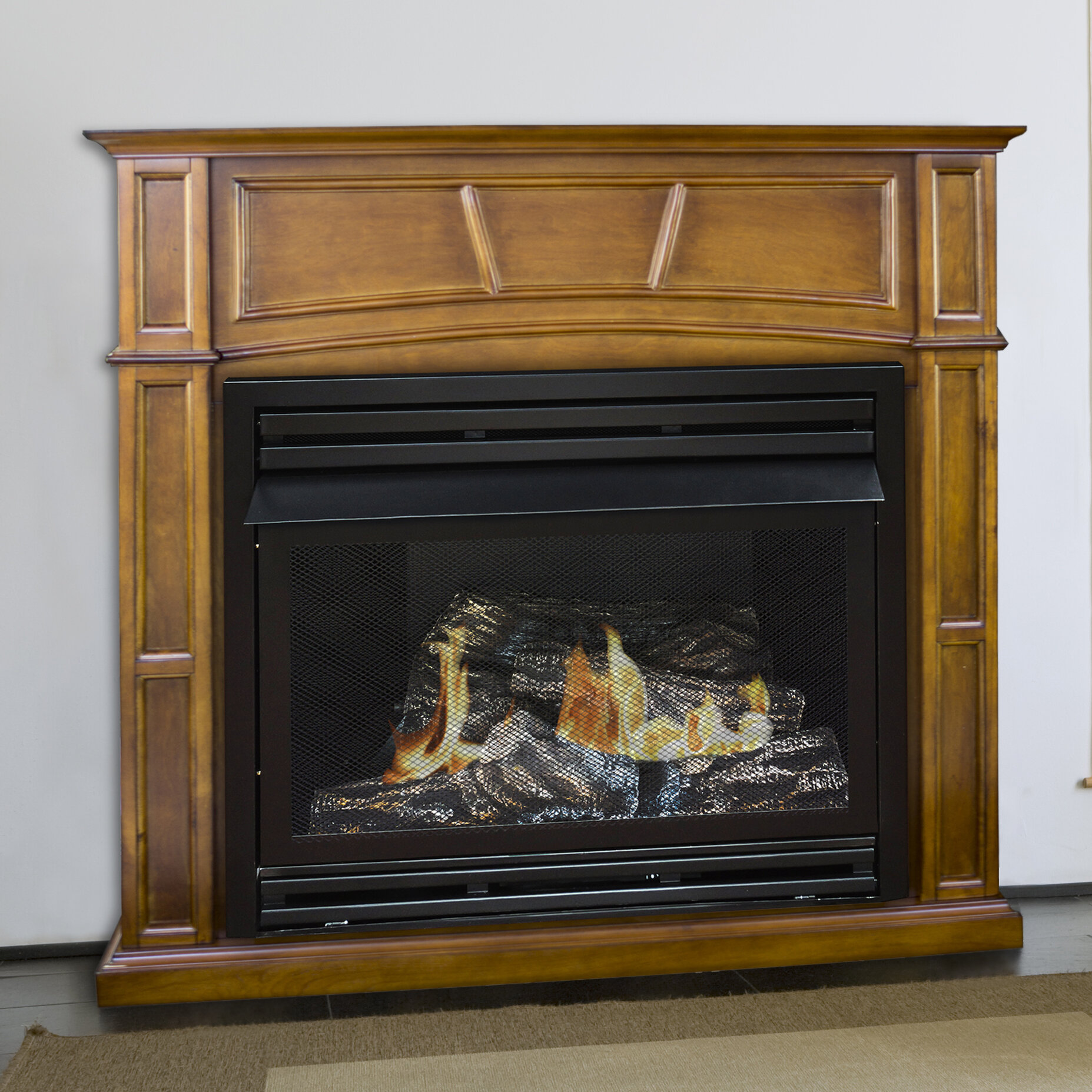 pleasant hearth dual fuel vent free gas fireplace ebay