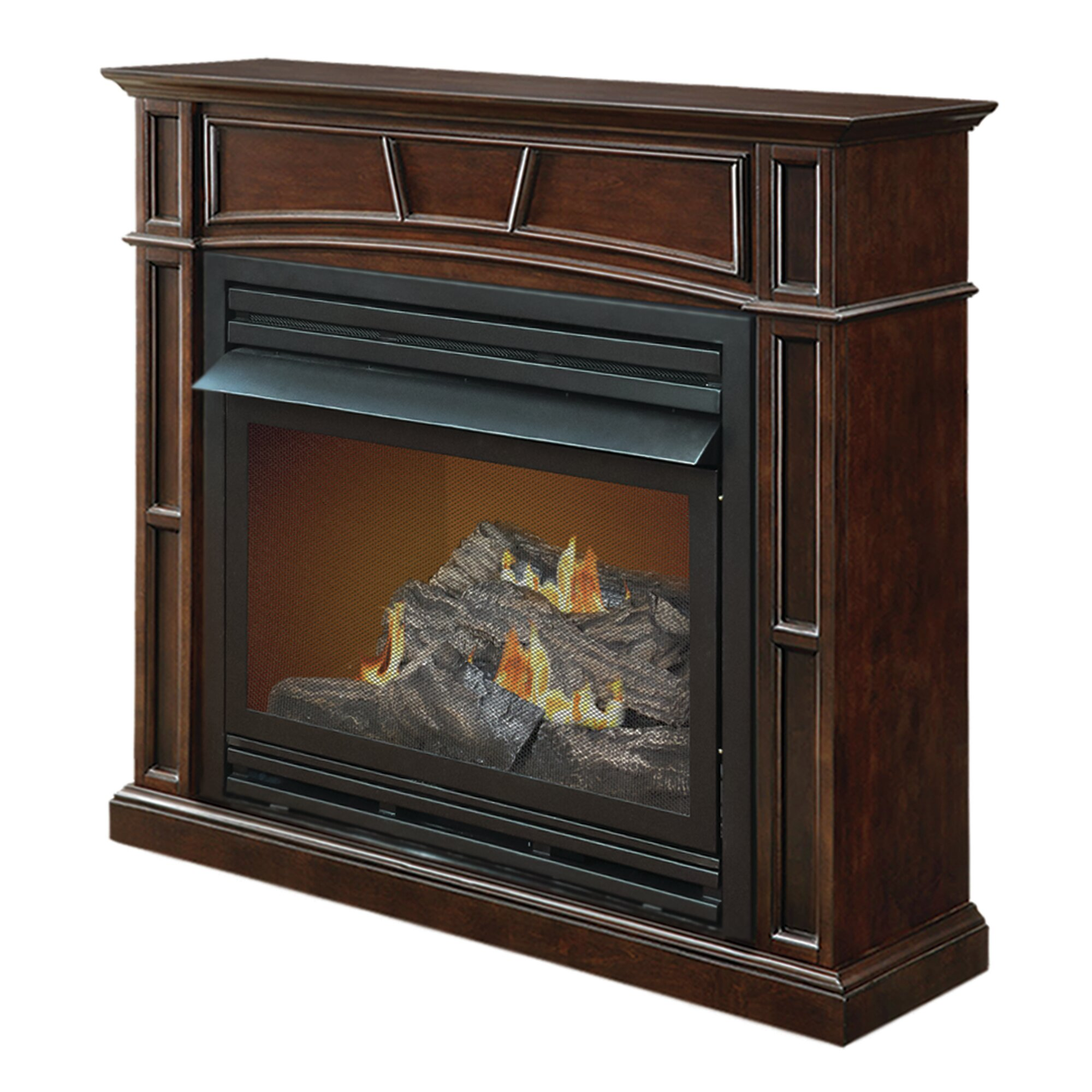 pleasant hearth size vent free dual fuel gas
