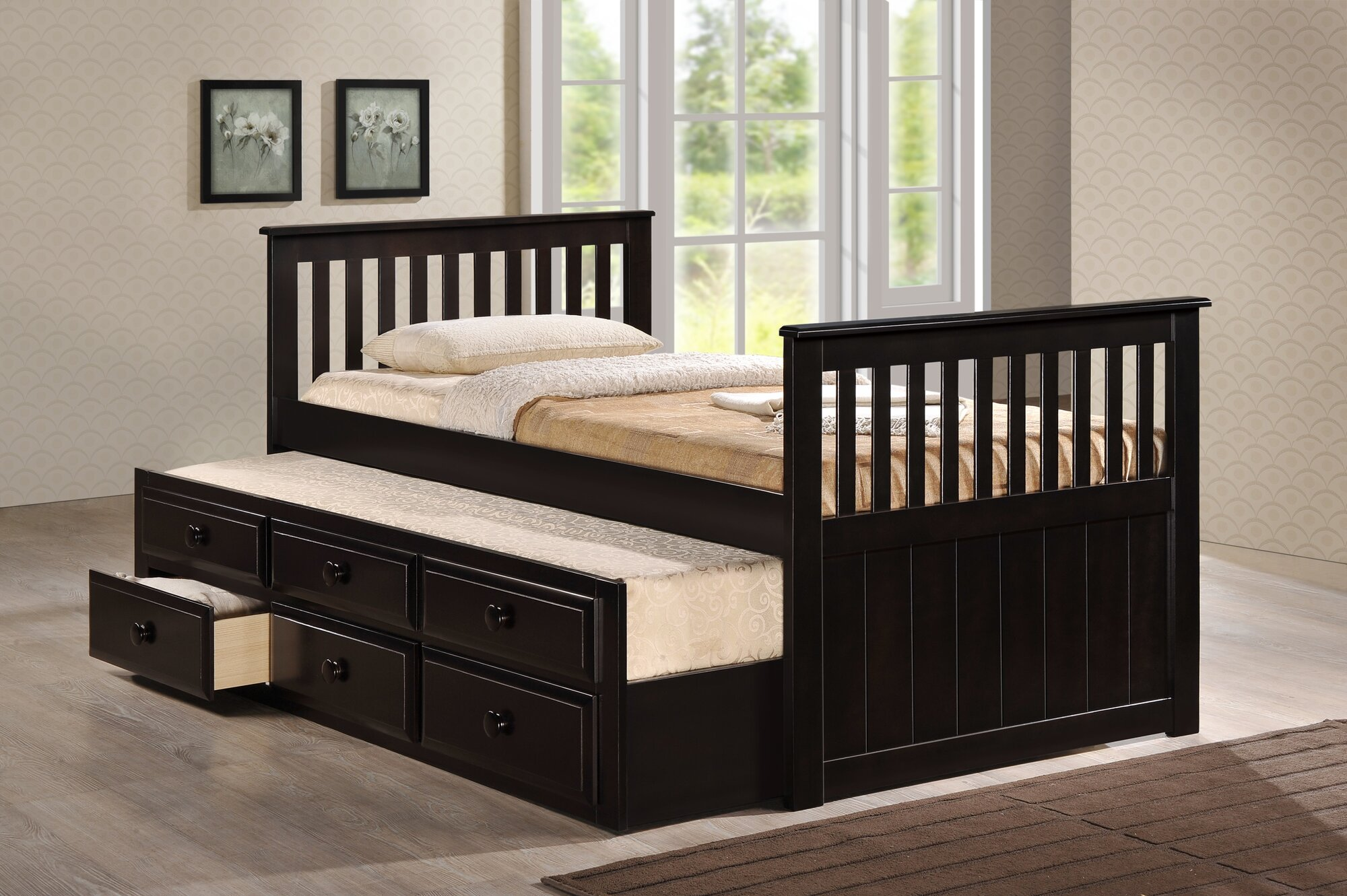 milton green star riley twin captain bed with storage ebay. Black Bedroom Furniture Sets. Home Design Ideas