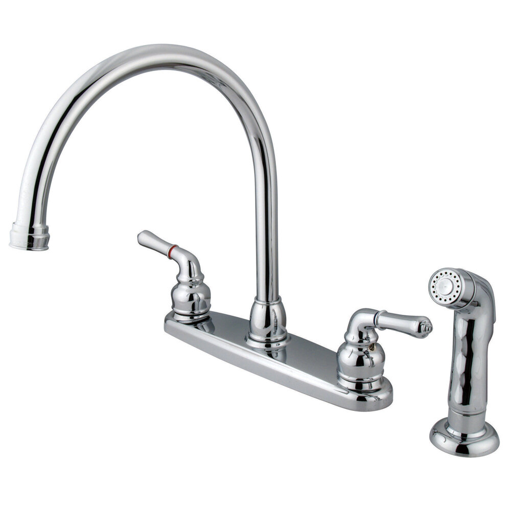 magellan double handle centerset kitchen faucet with